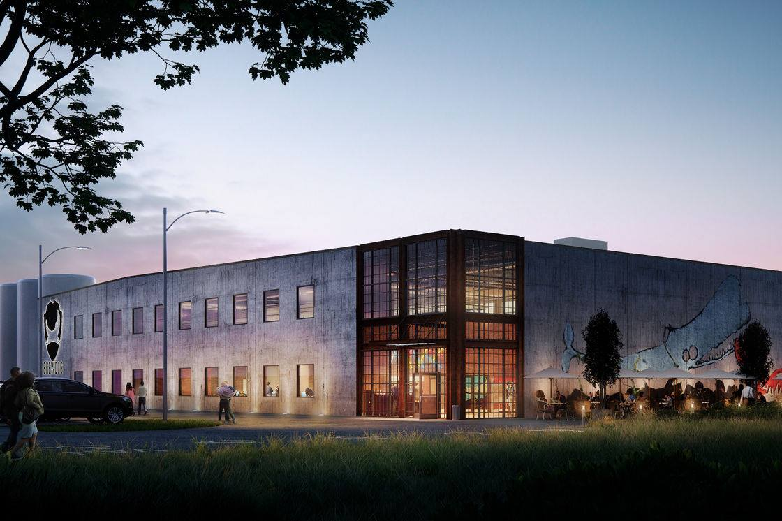 A rendering of BrewDog's Columbus facility.