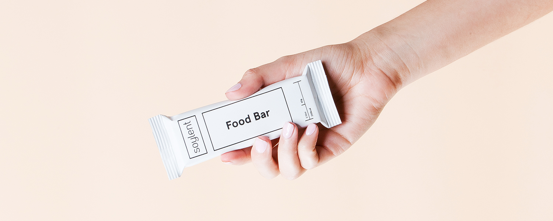 A Soylent food bar.