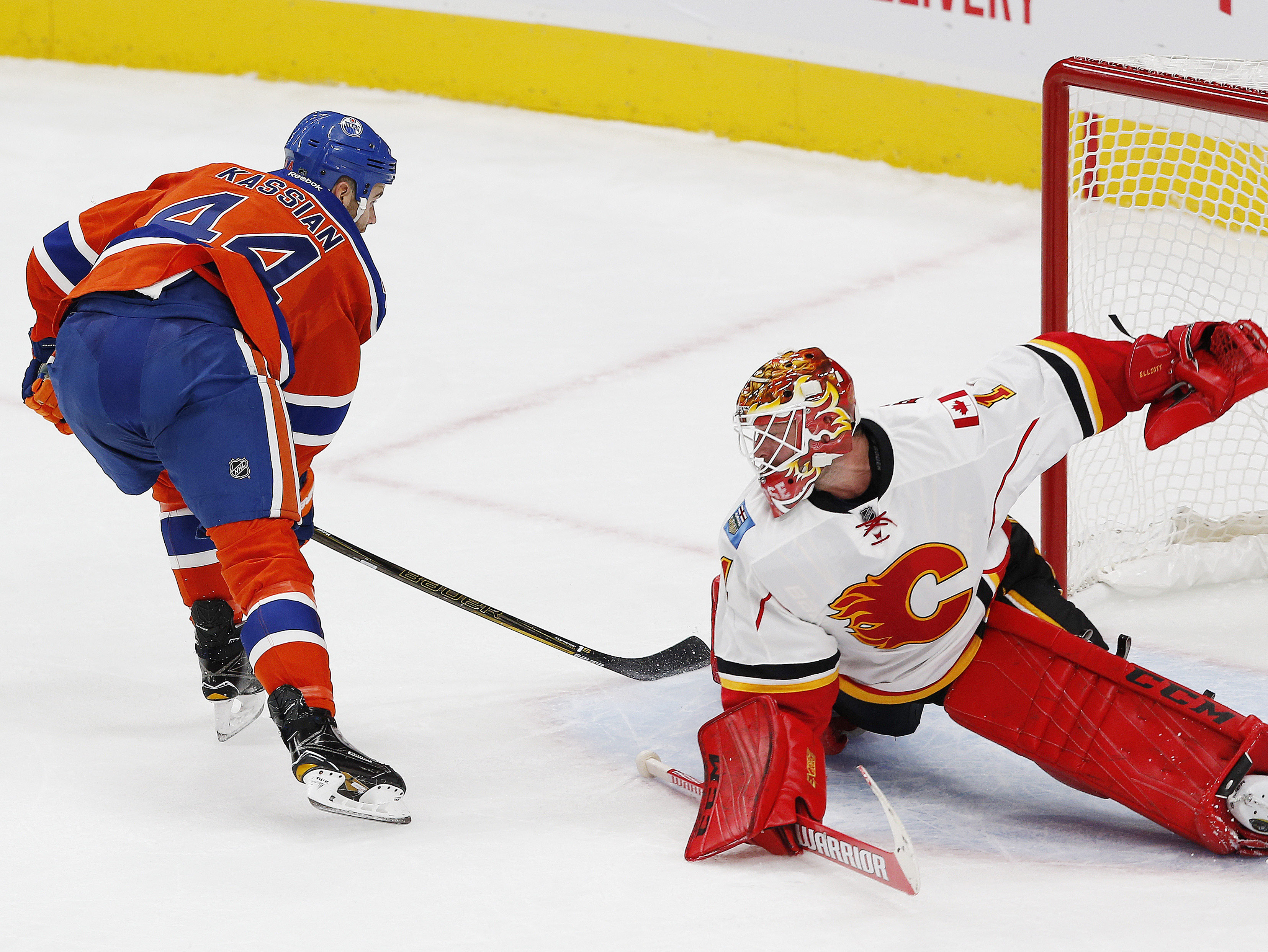 Zack Kassian practiced with the second line on Thursday.