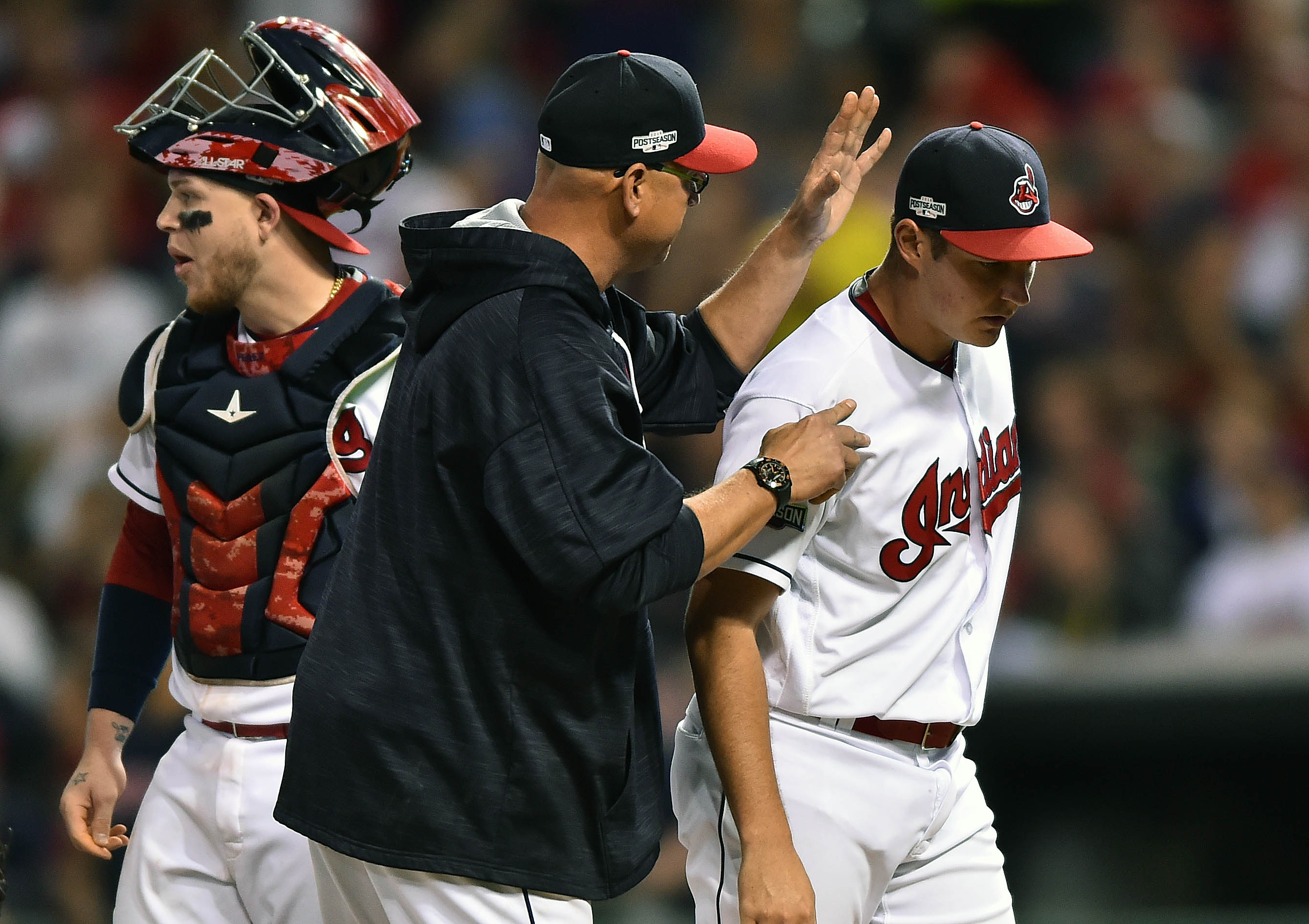 I like to think that Tito is slapping Bauer over the head for this.
