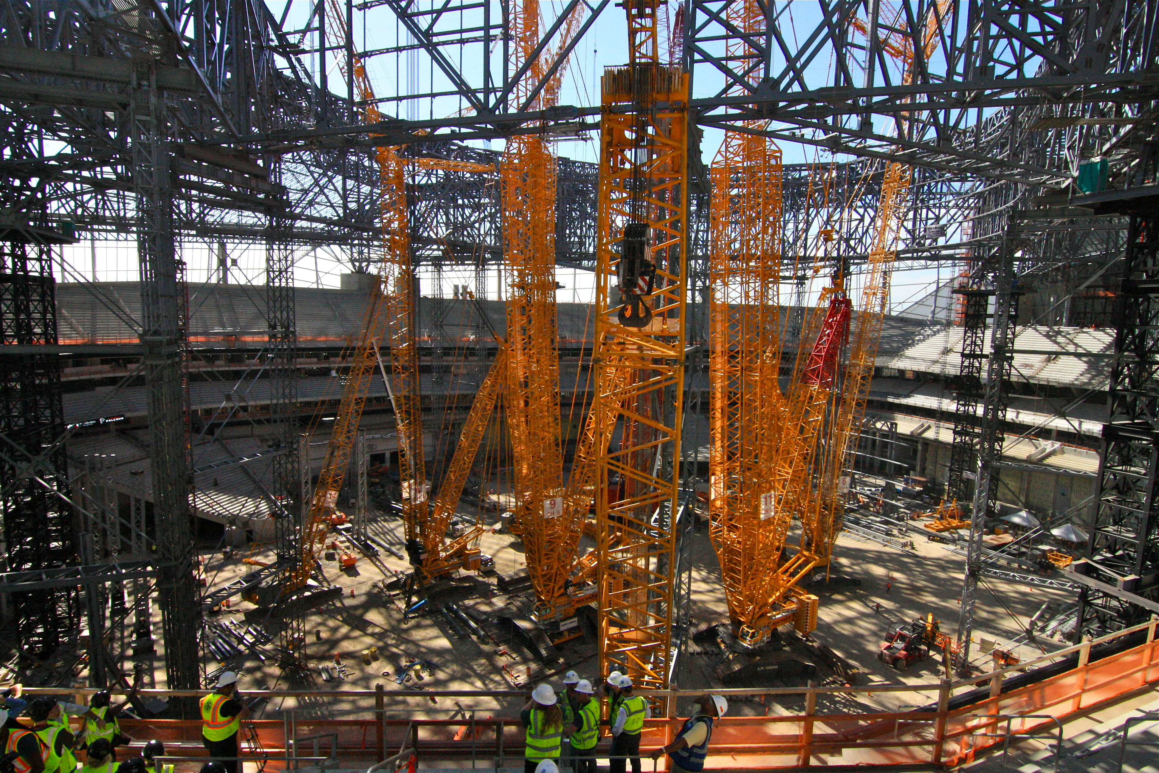Inside the Atlanta Falcons' new stadium today.