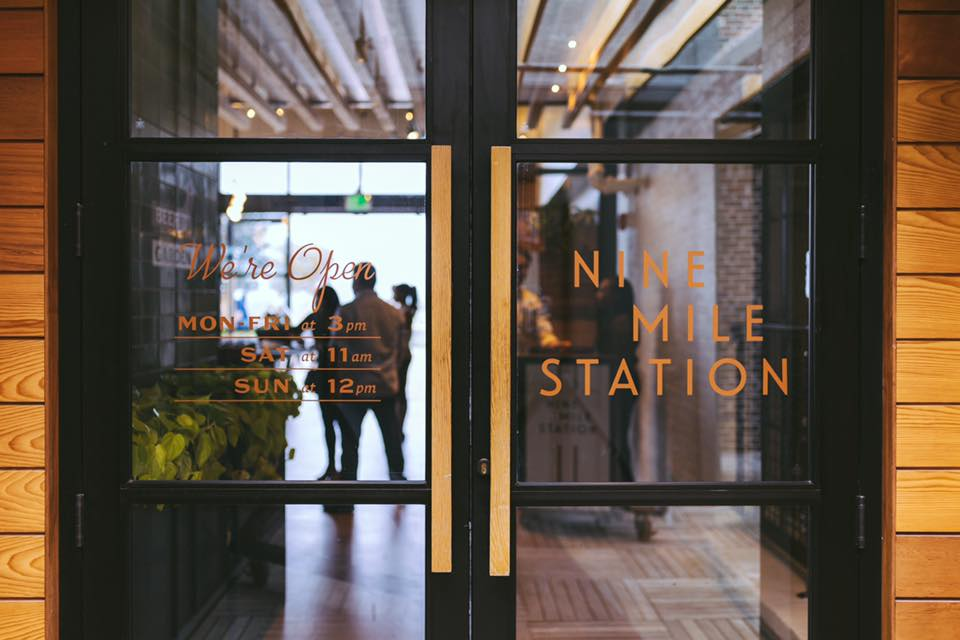 The entrance to Nine Mile Station on top of Ponce City Market