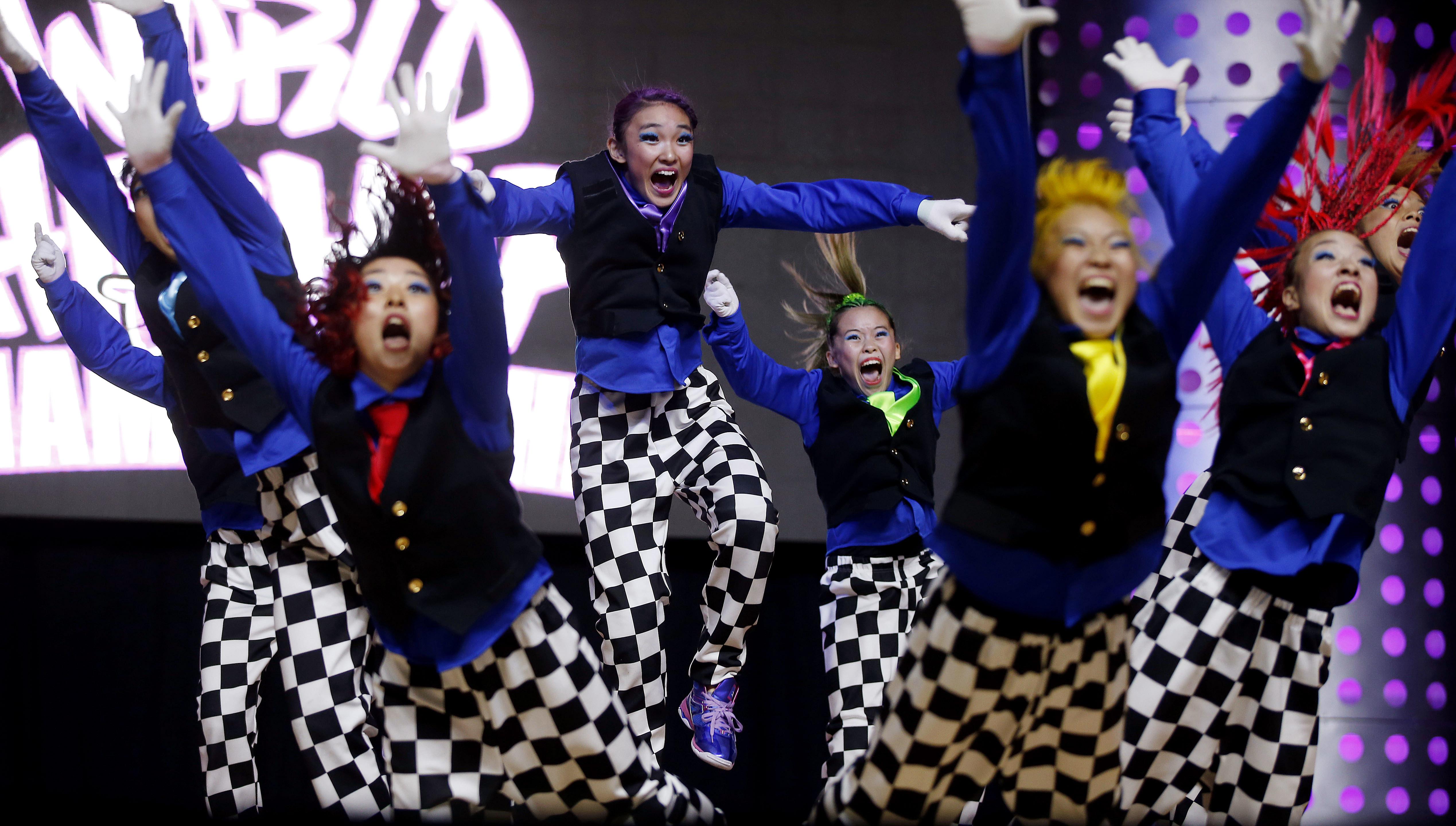Japan's J.B. Star Varsity team performs at Hip Hop International.