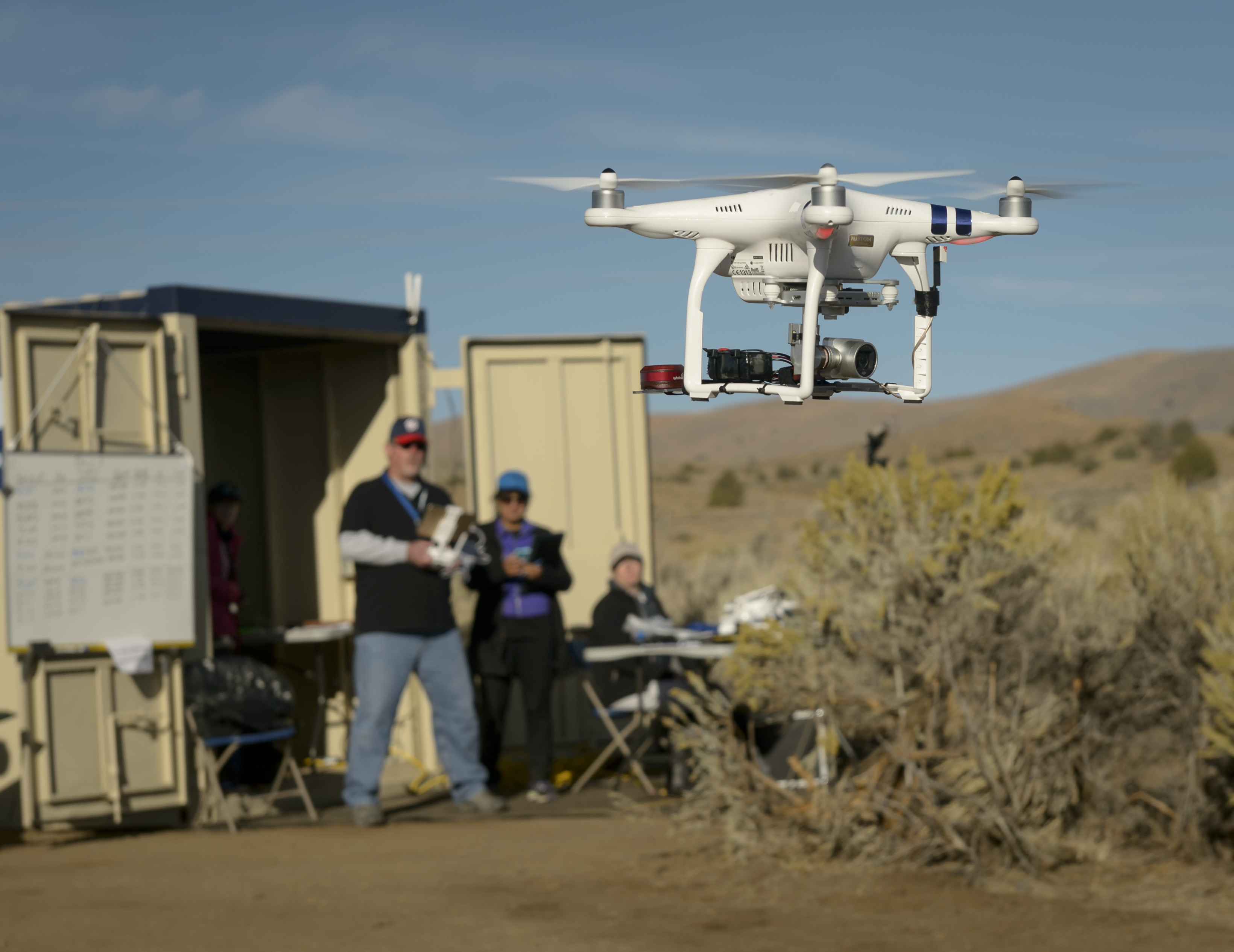 NASA is flying drones at a Nevada airport to test air traffic control systems