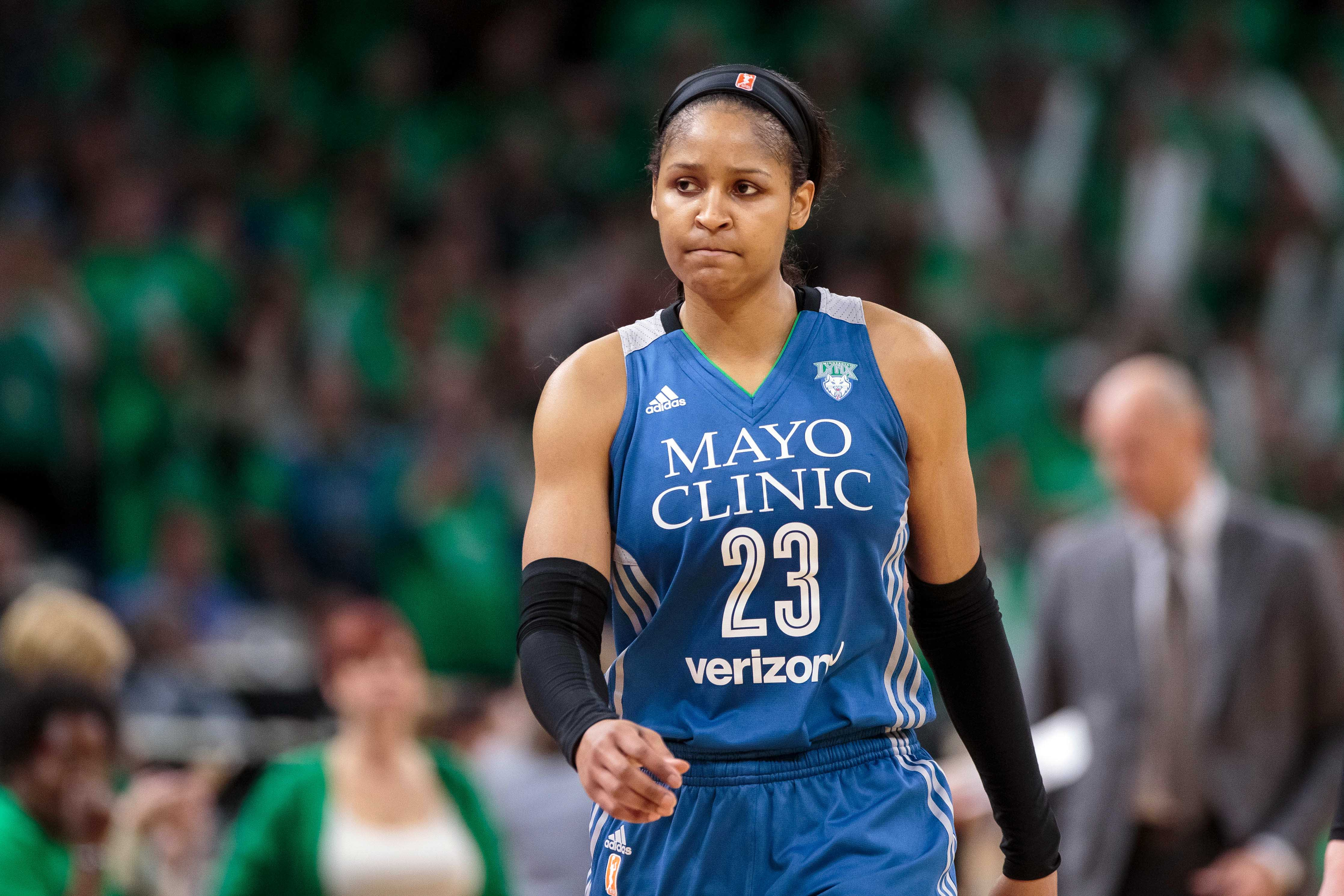 WNBA: Los Angeles Sparks at Minnesota Lynx. Maya Moore