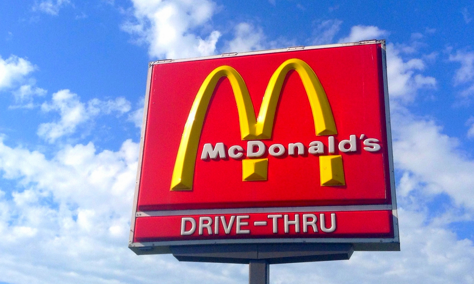 Red and yellow McDonald's golden arches sign