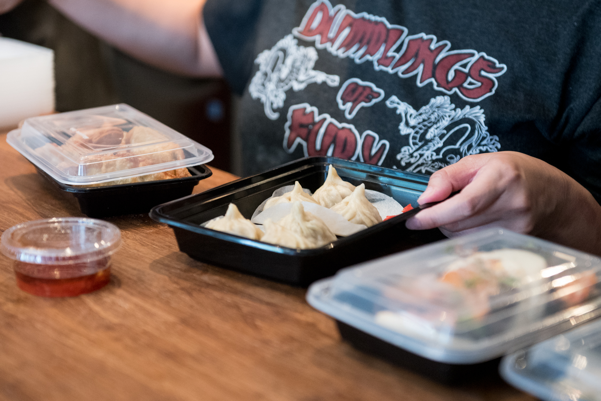 """""""Kitschy street food joint"""" Dumplings of Fury in West Seattle."""