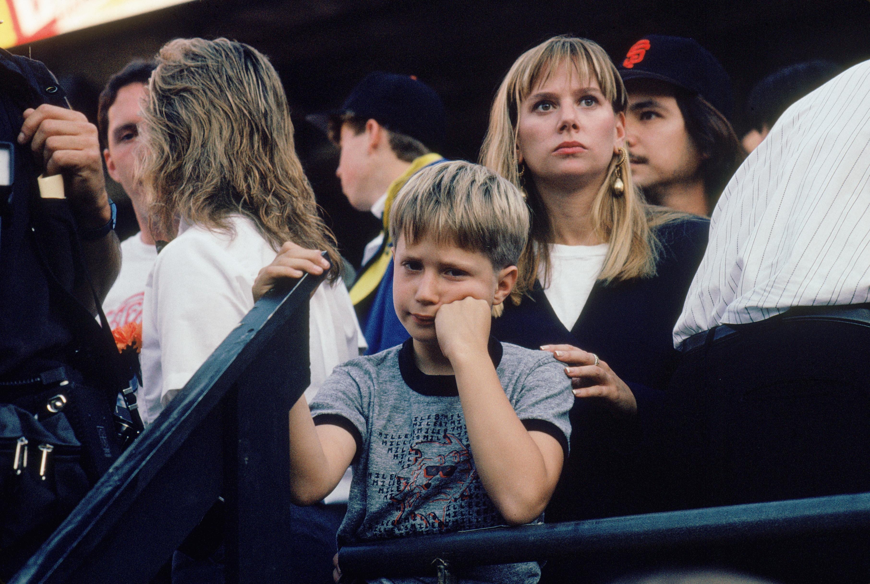 1989 World Series: Dejected Fan