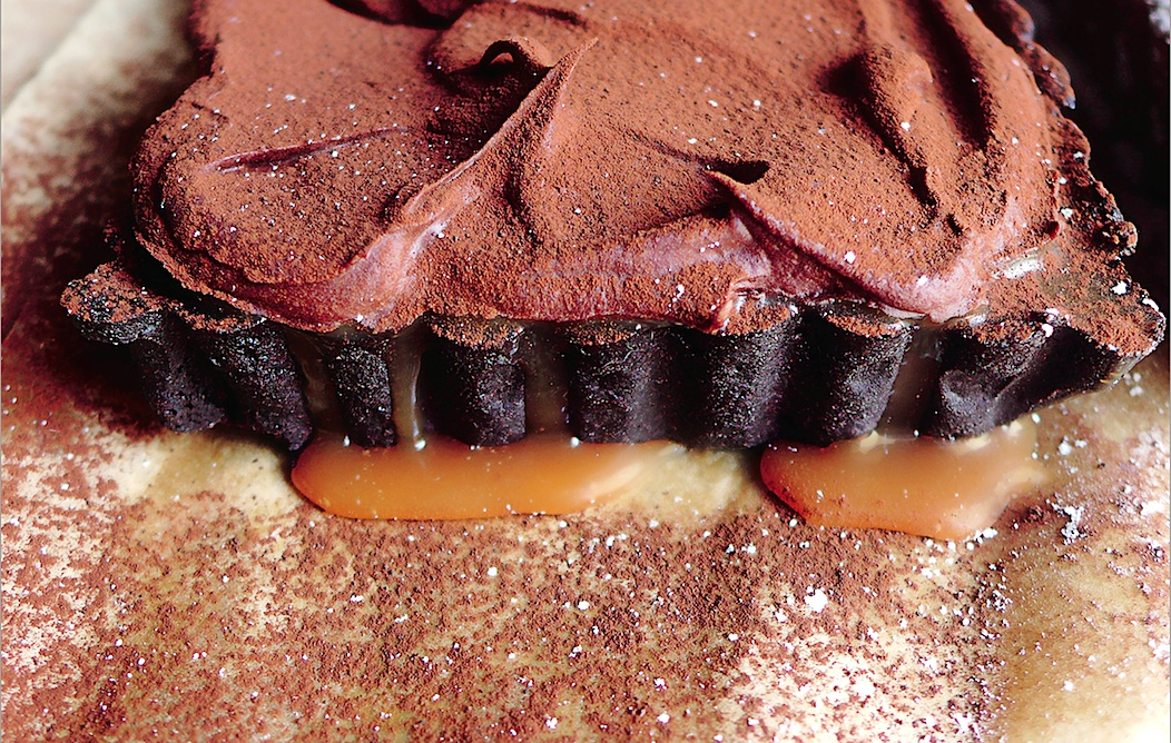 Recipe: Four-Layer Salted Chocolate Caramel Tart