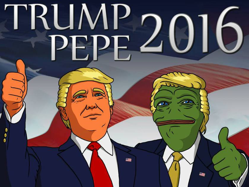 How Pepe the frog and Dilbert explain the culture wars of the 2016 election, in one comic