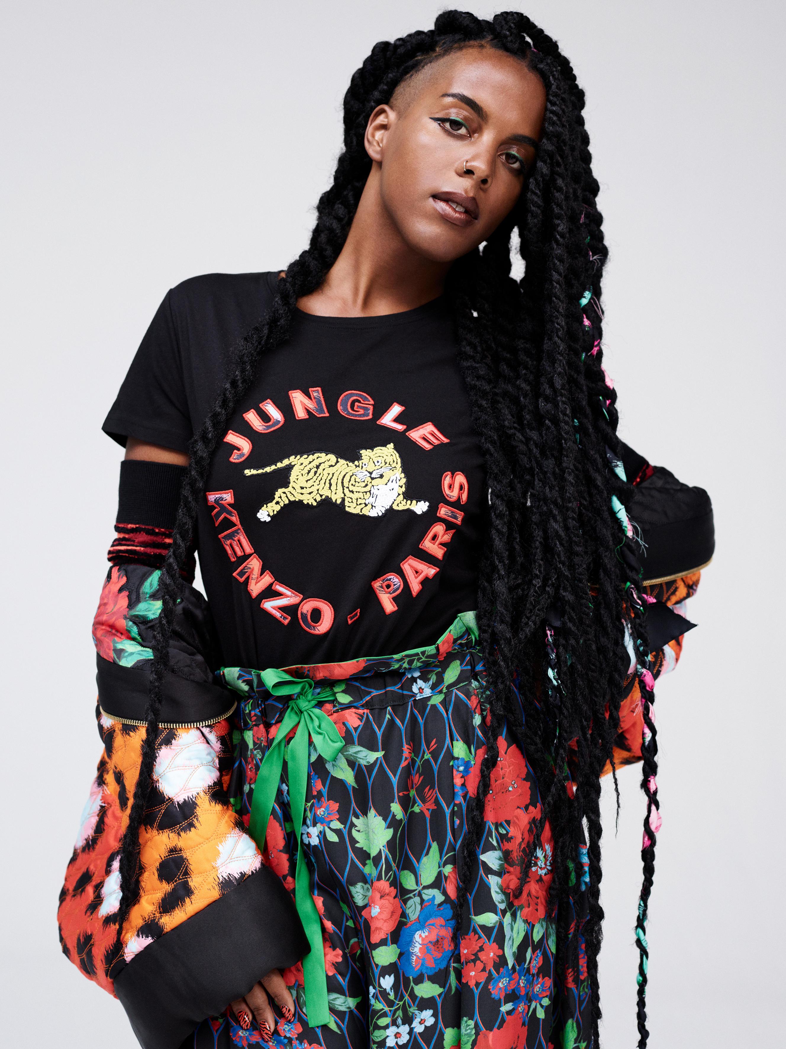 Artist/DJ Juliana Huxtable poses for Kenzo x H&M promotional photos
