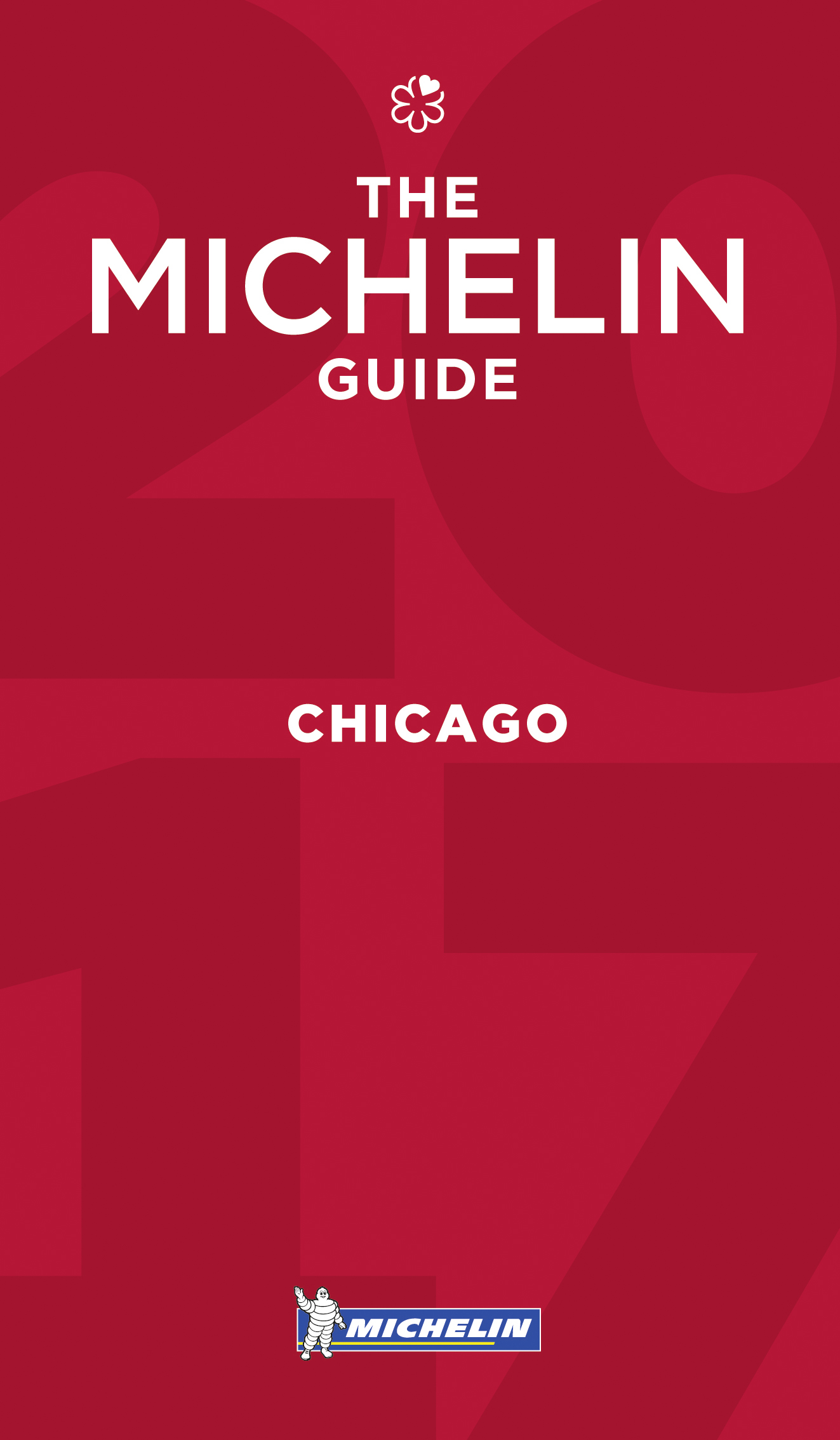 The red book cover to the Michelin Guide for Chicago.