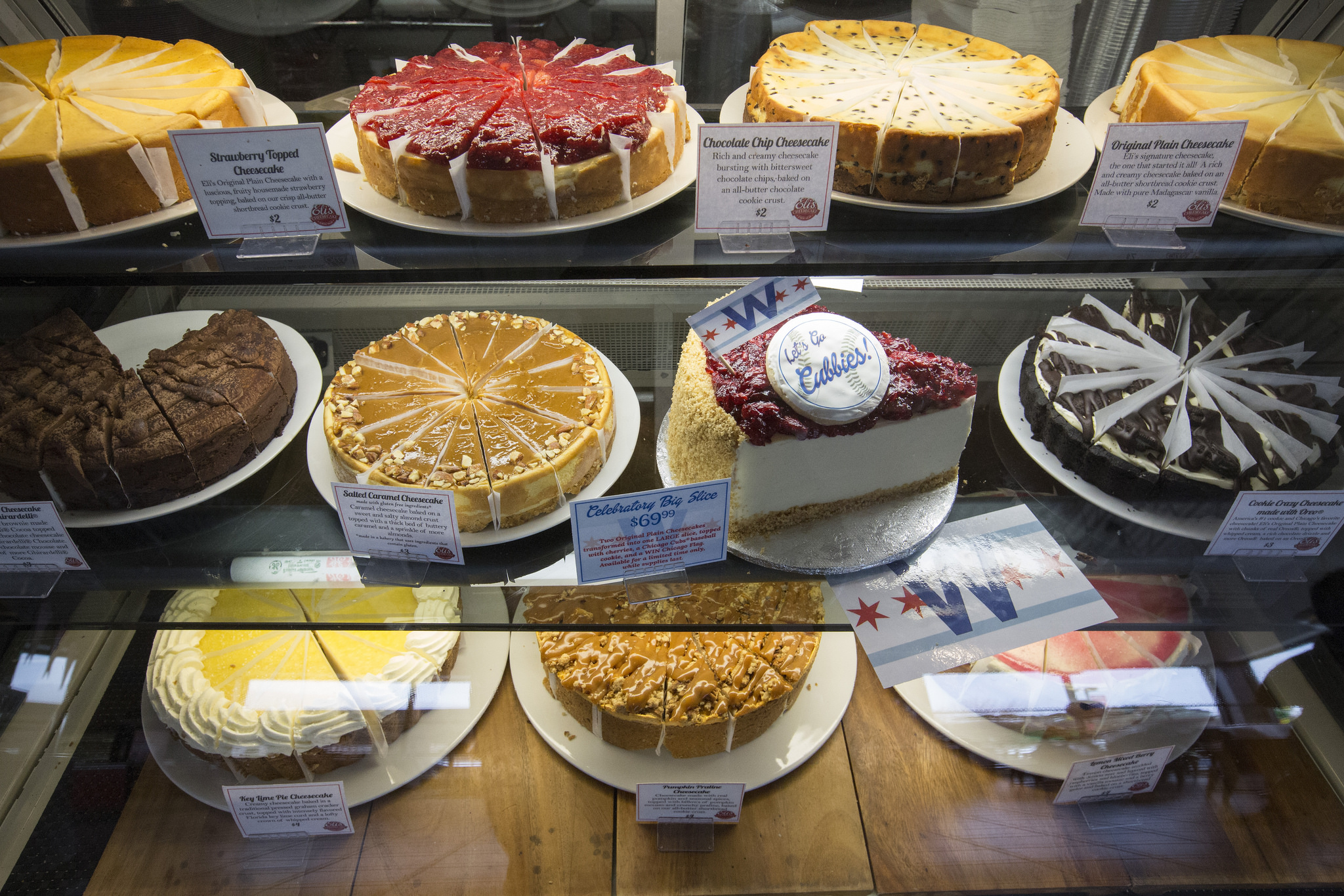 Eli's many cheesecake varieties