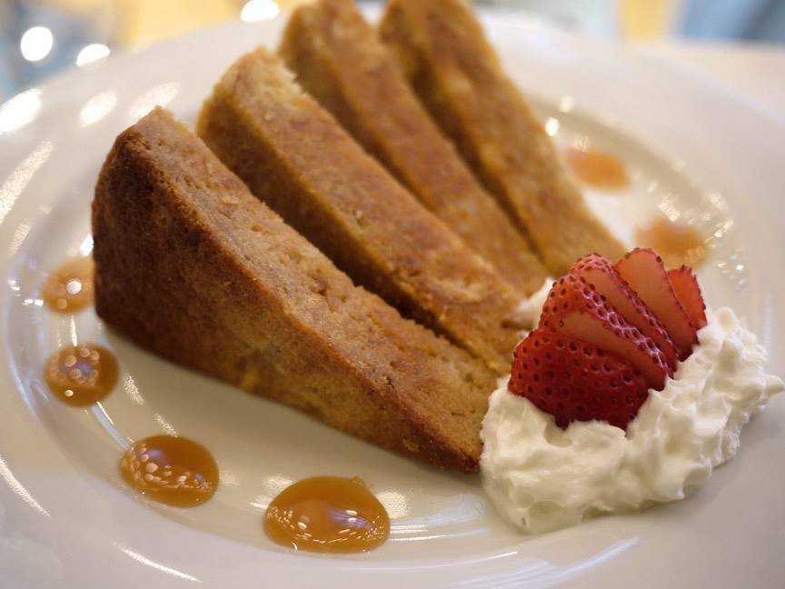 Chez Zee's creme brulee French toast