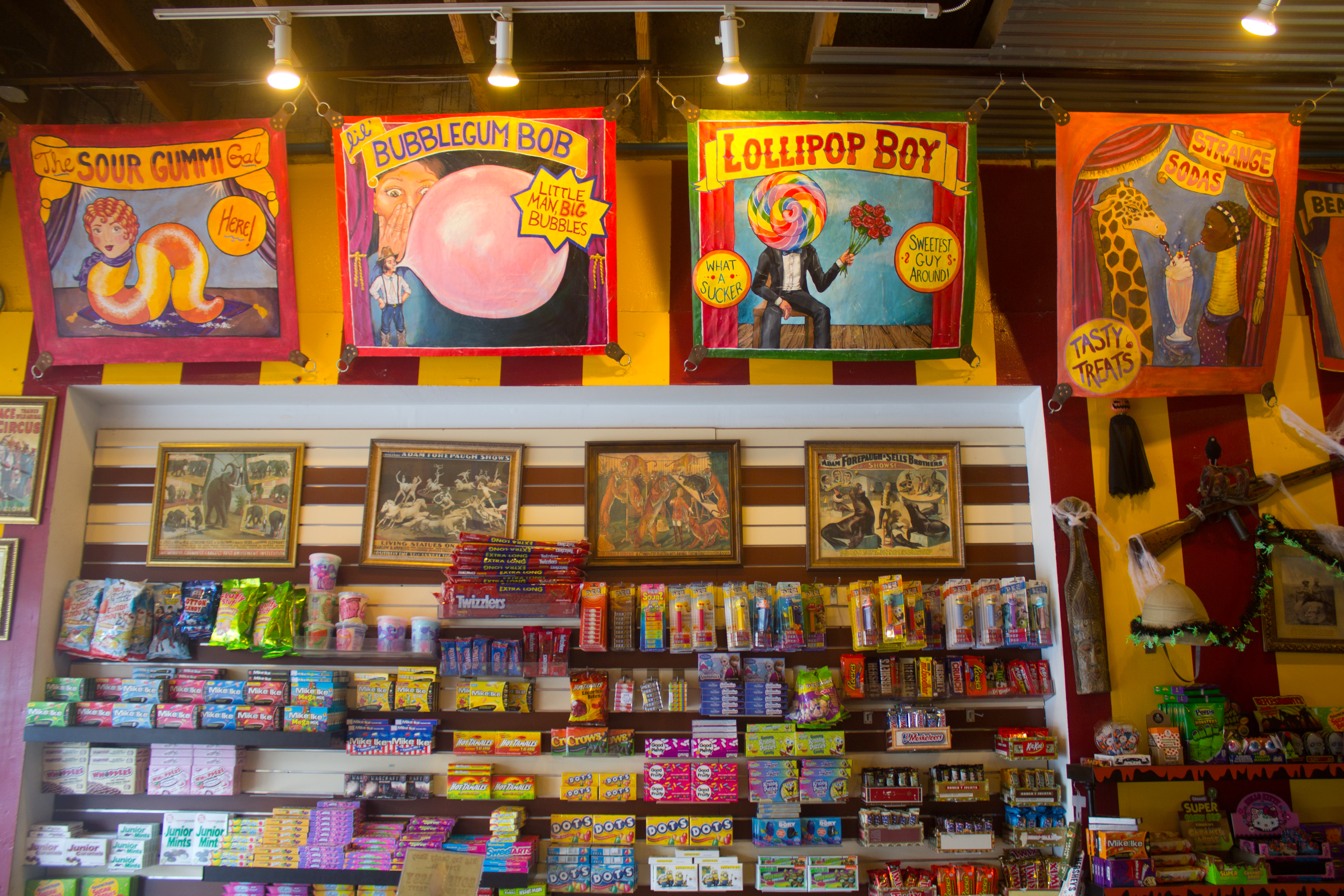 Technicolor Big Top Candy Shop Fuels Austin's Sugar Rush