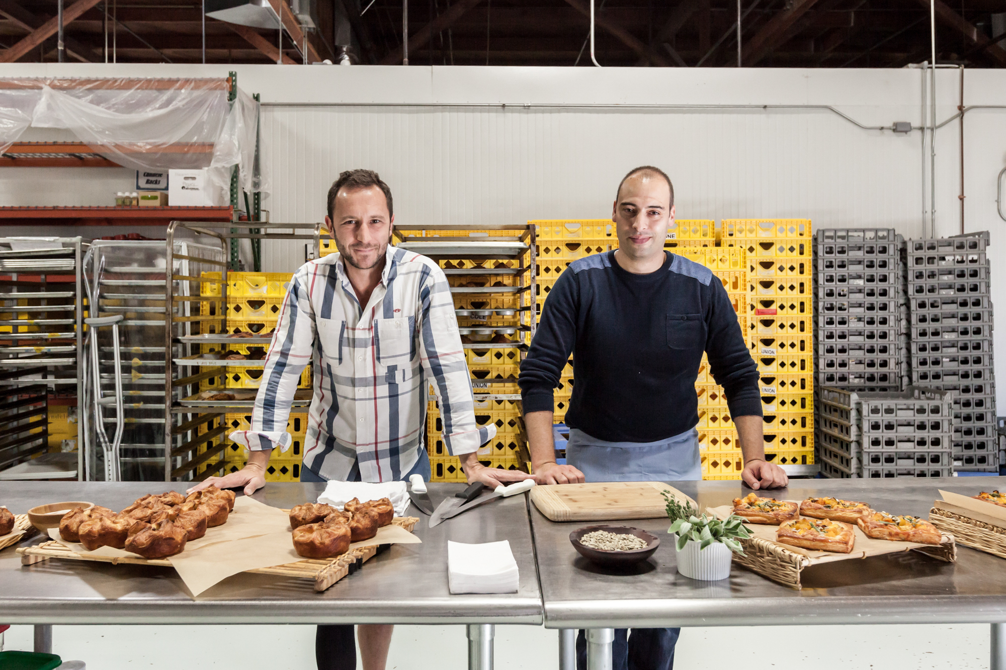 Co-owner Nicolas Bernardi and director of food innovation Stephane Stocki, ready to take on the world