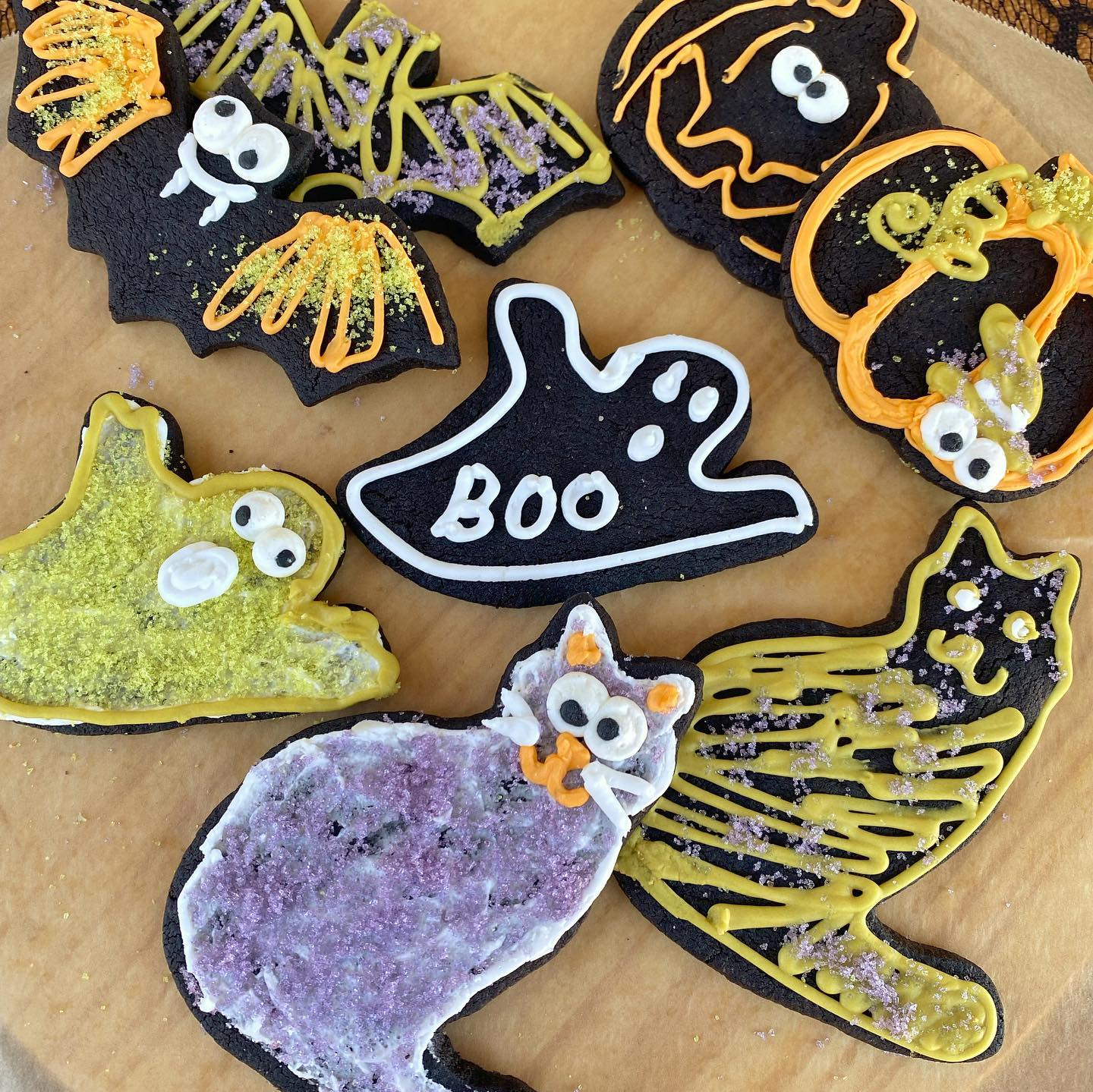 Decorated Halloween cookies from Abby Jane Bakeshop