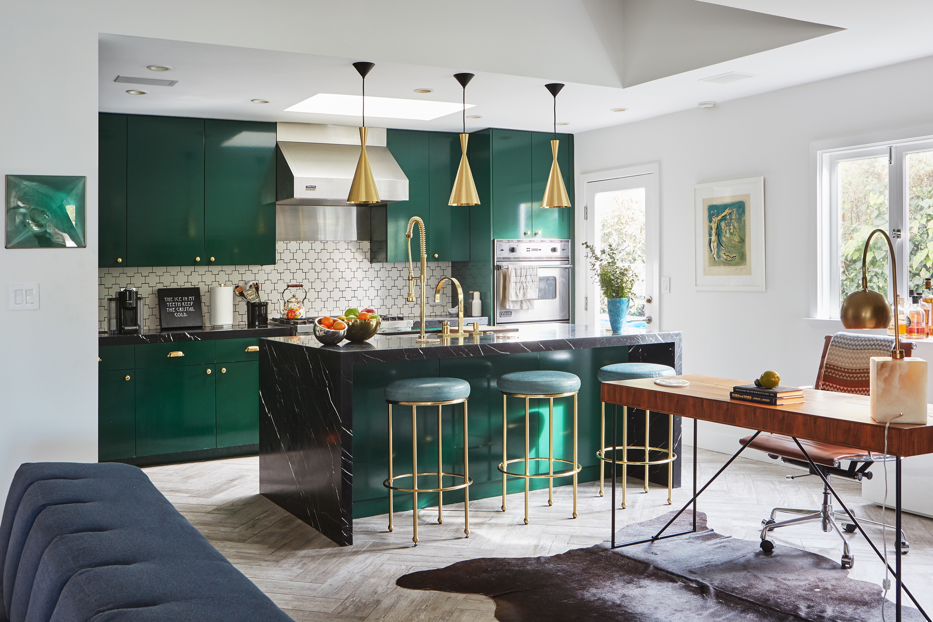 Emerald Green Paint In A Kitchen