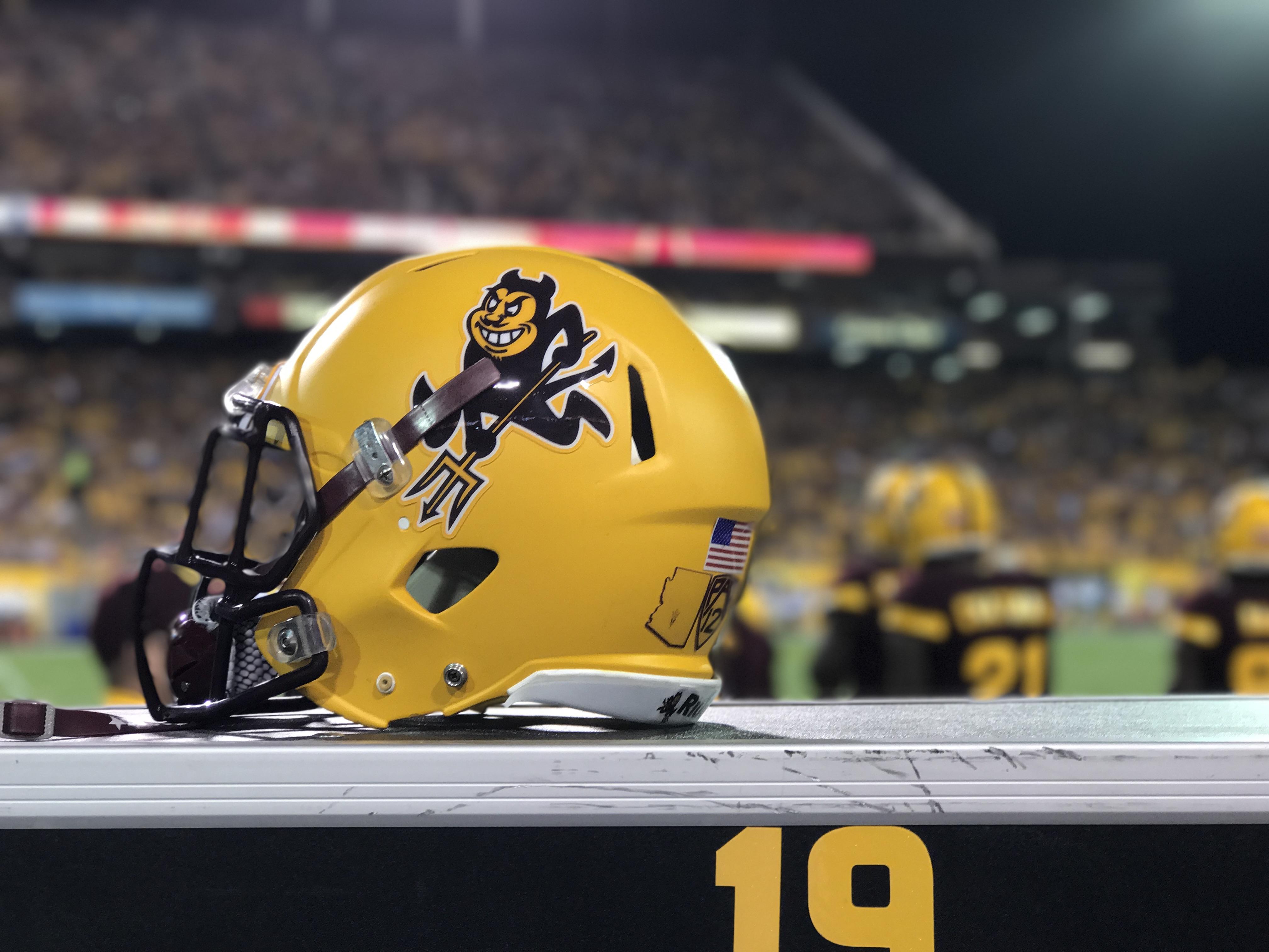 ASU homecoming game helmet vs WSU