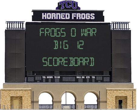 Oh scoreboard image, you're the only constant in this crazy conference.