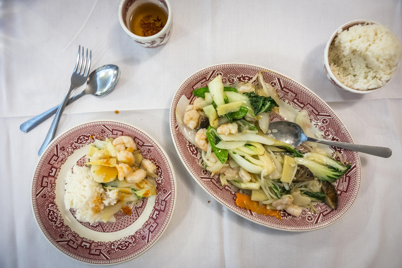 Chop suey in New York's Chinatown