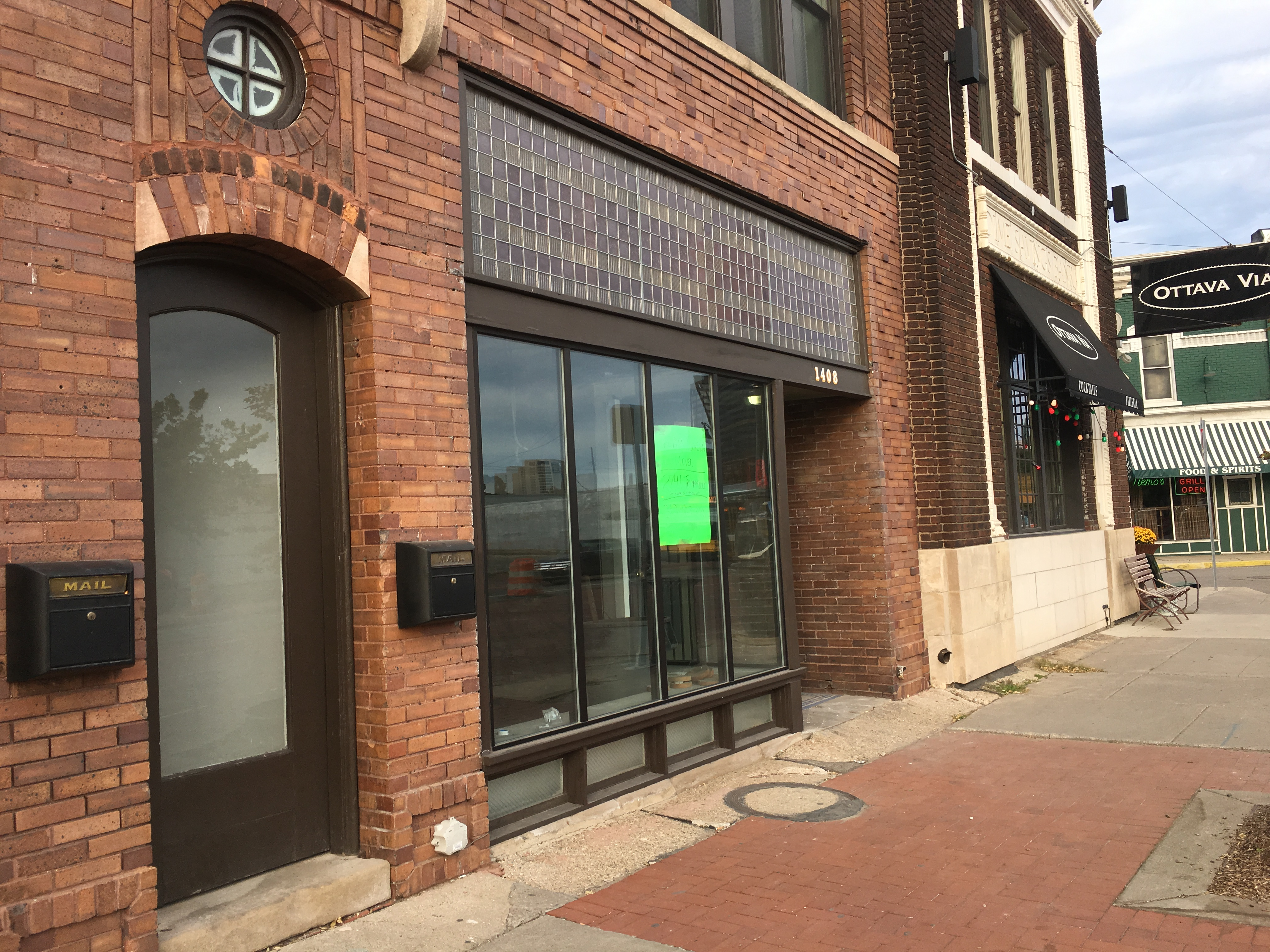 Vacant space previously occupied by Team Screen Print in Corktown.