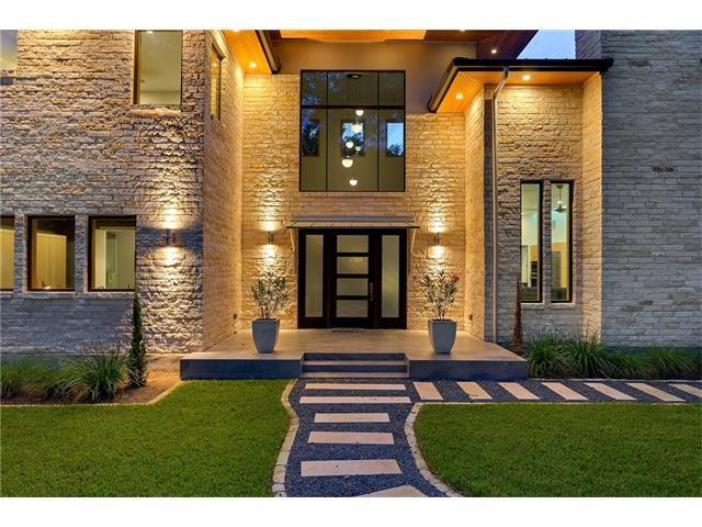 New build limestone contemporary/traditional two-story