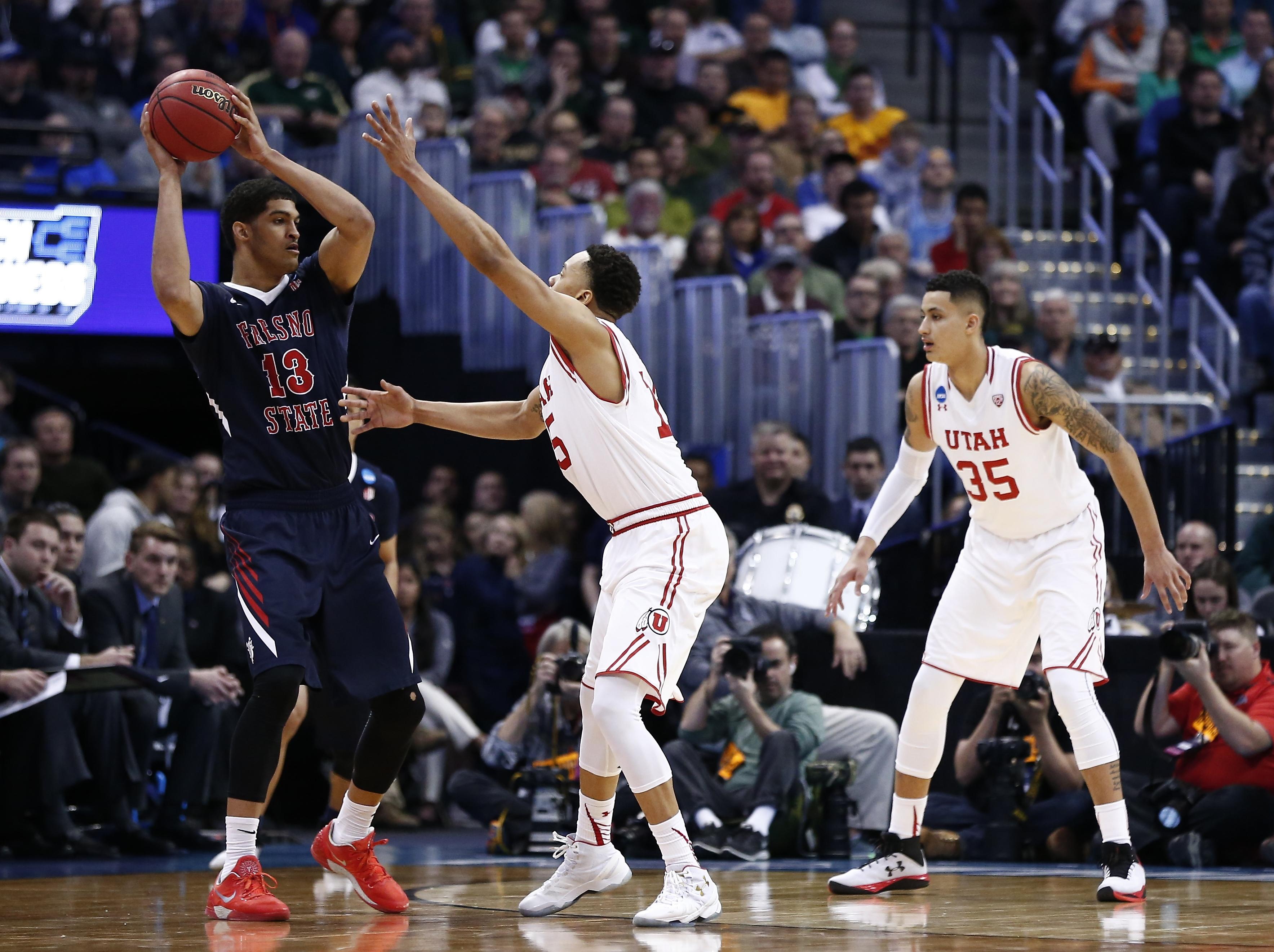 NCAA Basketball: NCAA Tournament-Utah vs Fresno State