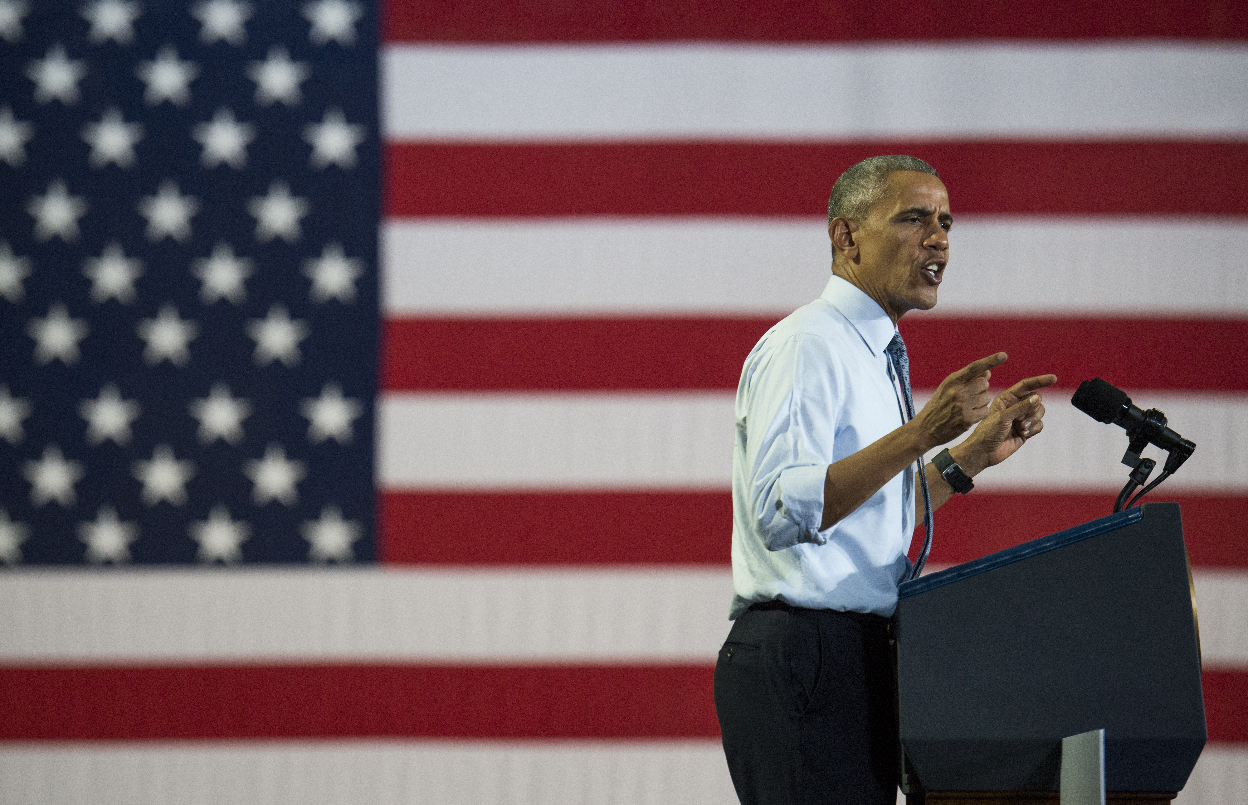 President Obama Campaigns For Hillary Clinton In Ohio