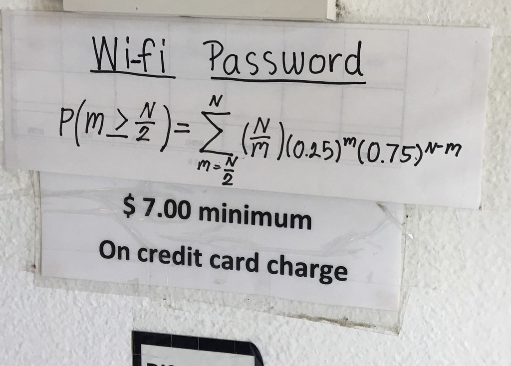 Restaurant Trolls Customers With Wifi Password Only a Mathematician Could Solve