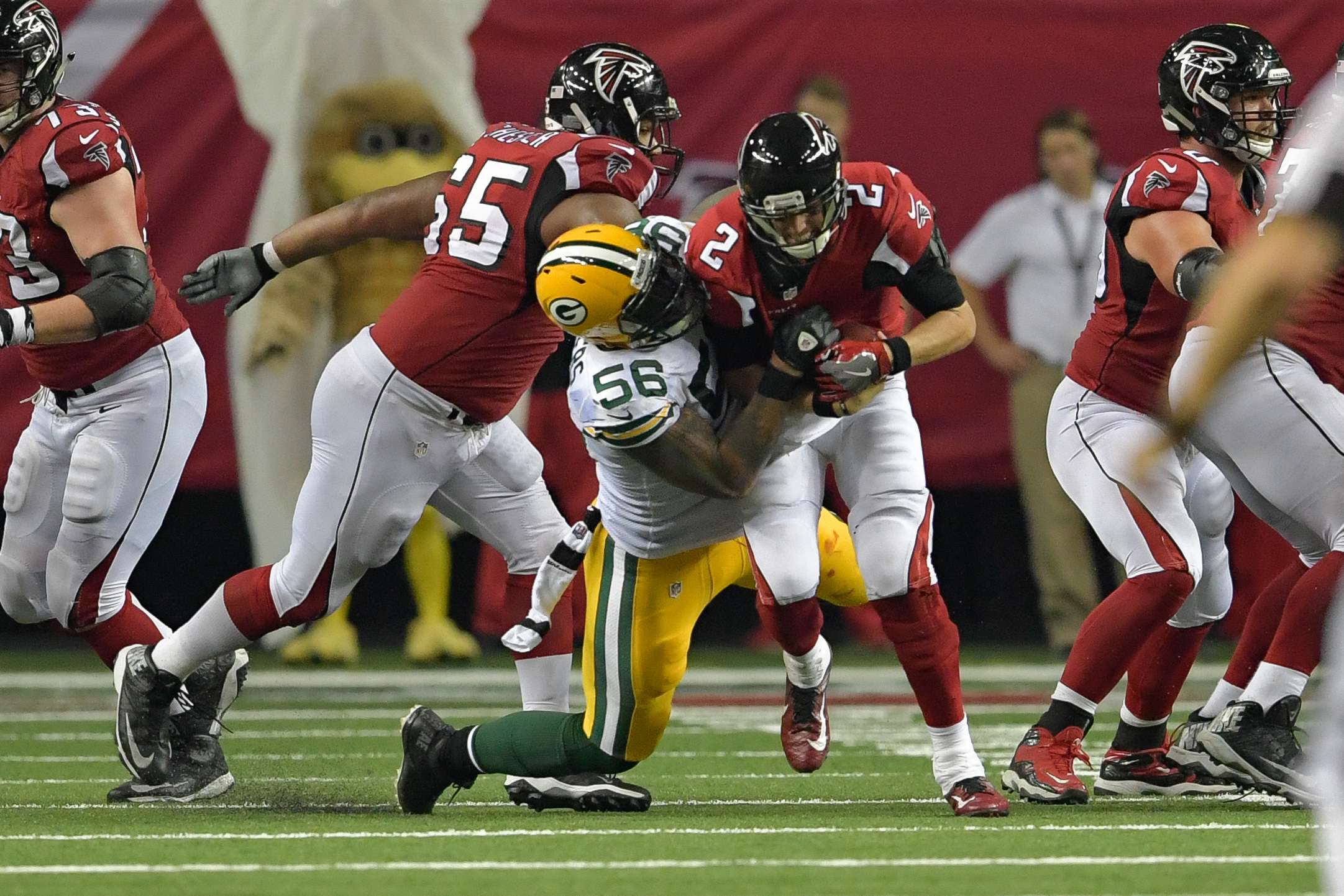 The Packer pass rush should be there again this week