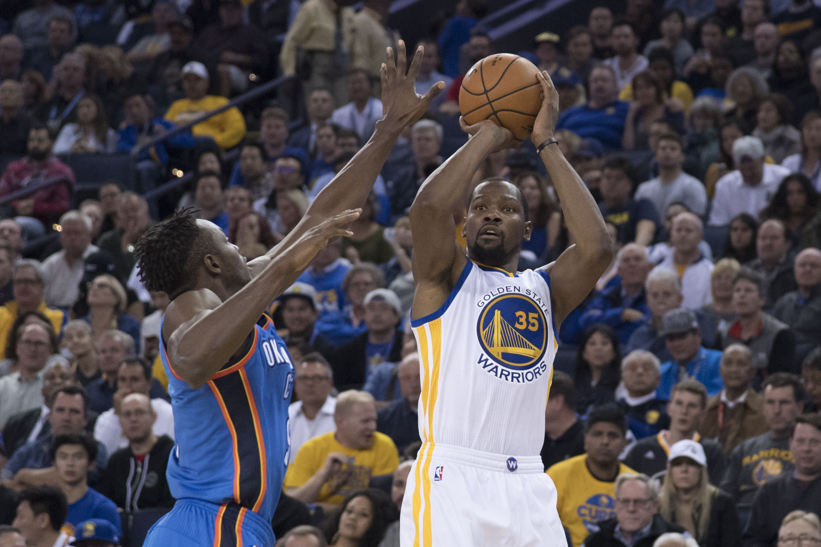 NBA scores 2016: Kevin Durant got angry and crushed the Thunder's undefeated season