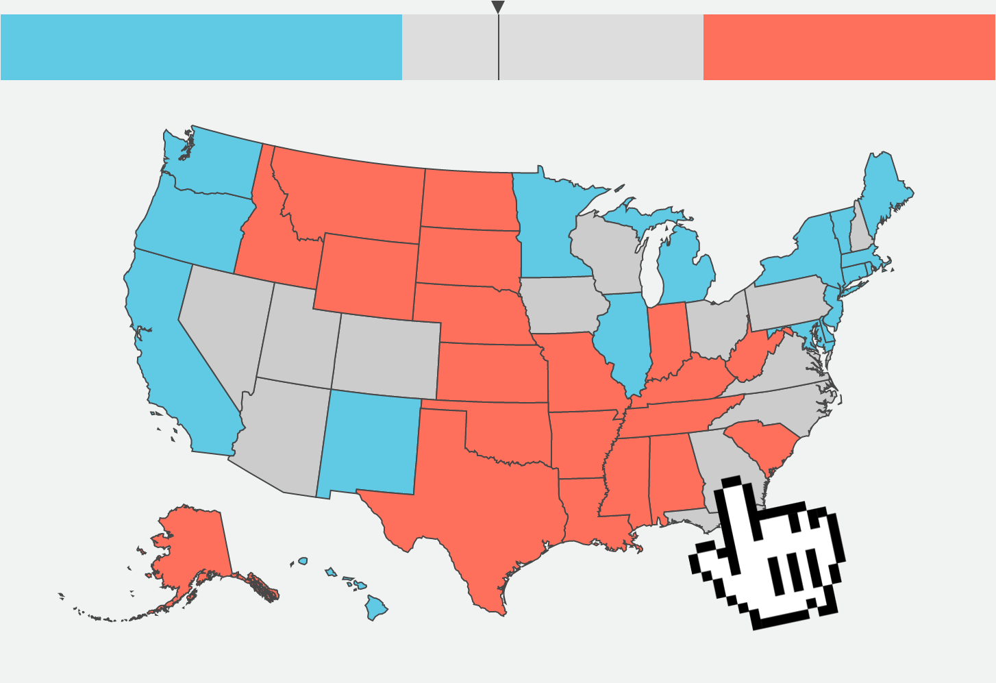 Maps Charts Vox - Simpons us map vs real voters map
