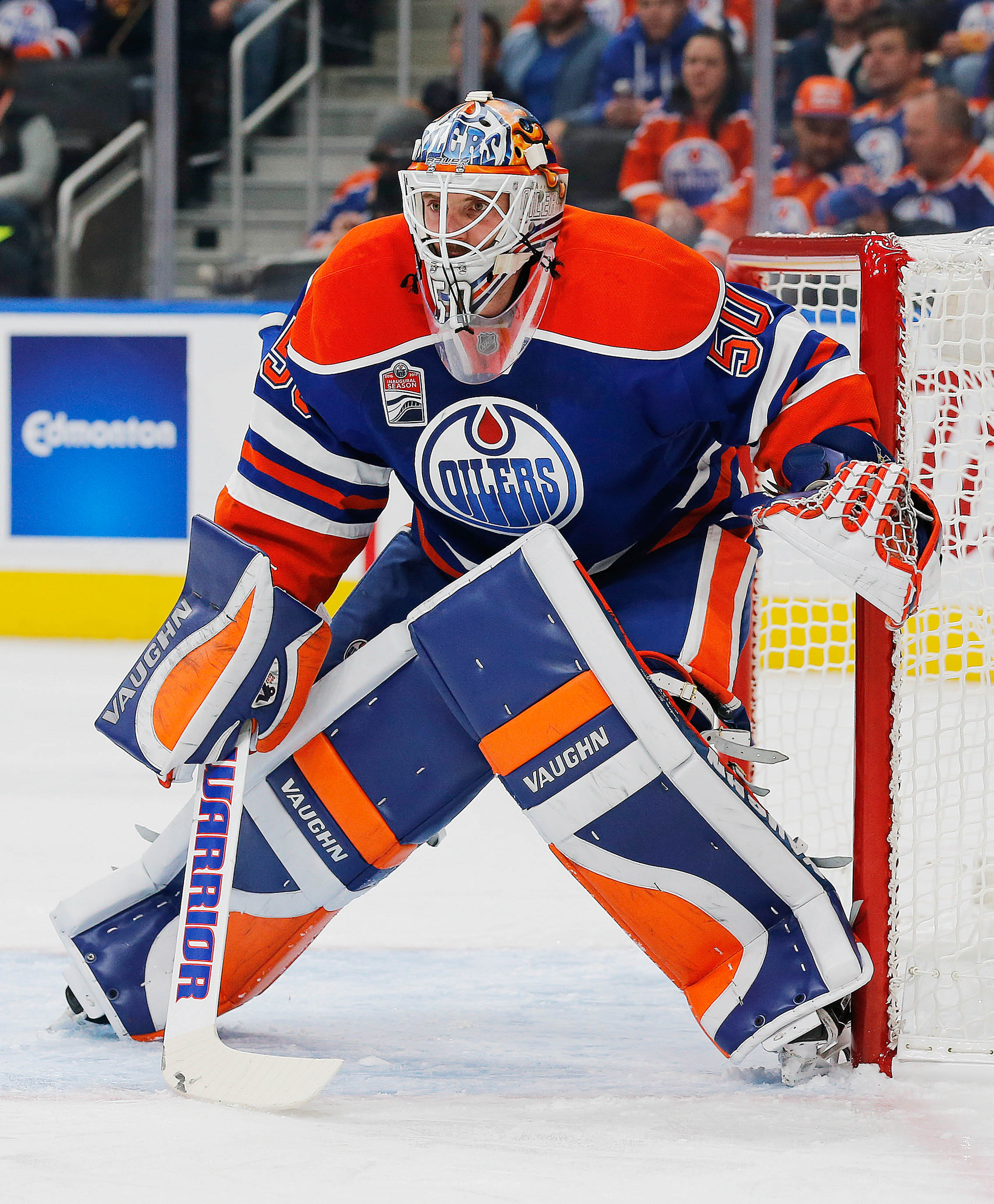 Barring anything wacky Jonas Gustavsson will likely make his first start for the Oilers today.