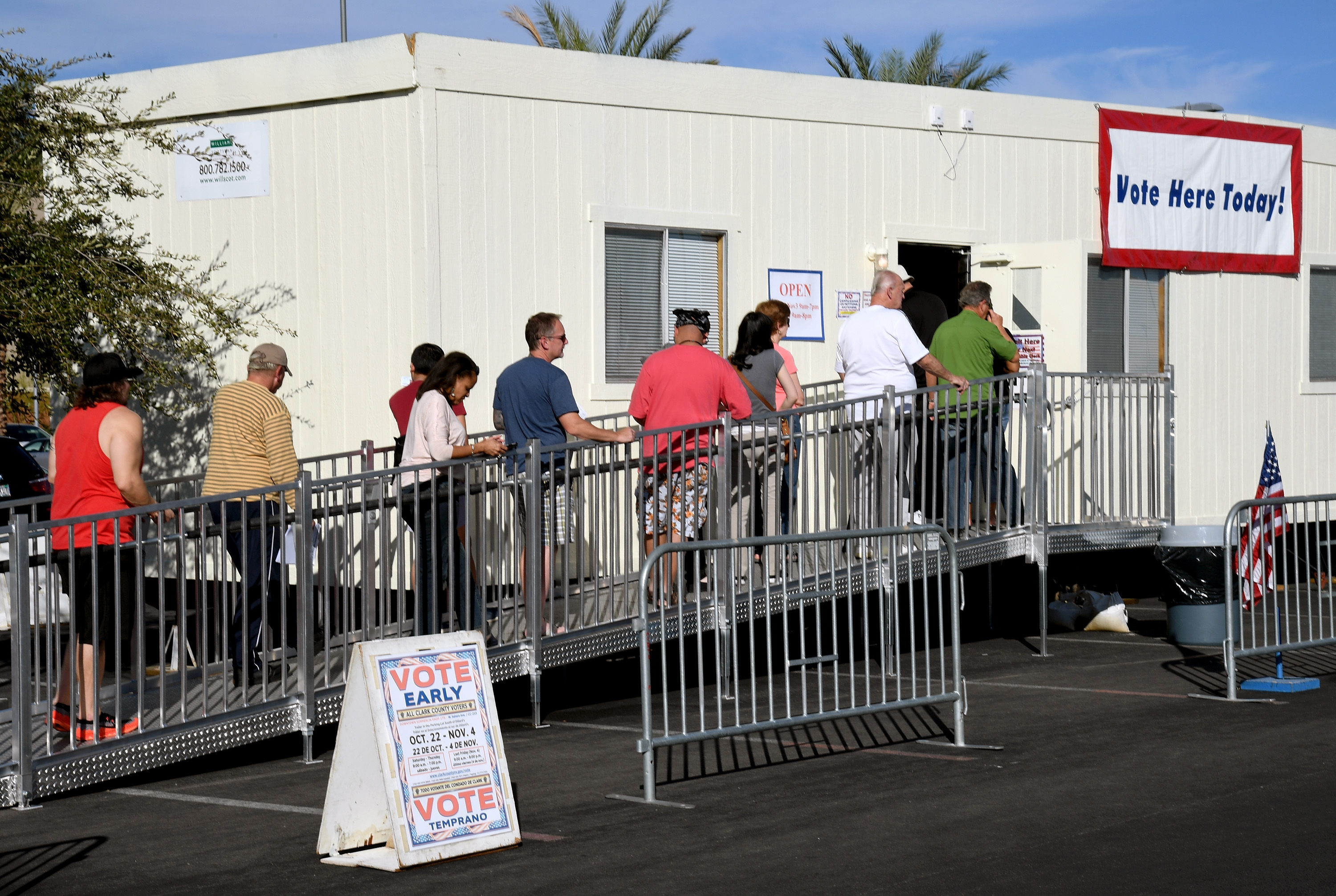 Donald Trump tried to sue a Nevada county that let polls stay open so people could vote