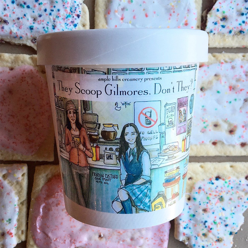 """A pint of Ample Hills Creamery's """"They Scoop Gilmores, Don't They?"""" ice cream."""