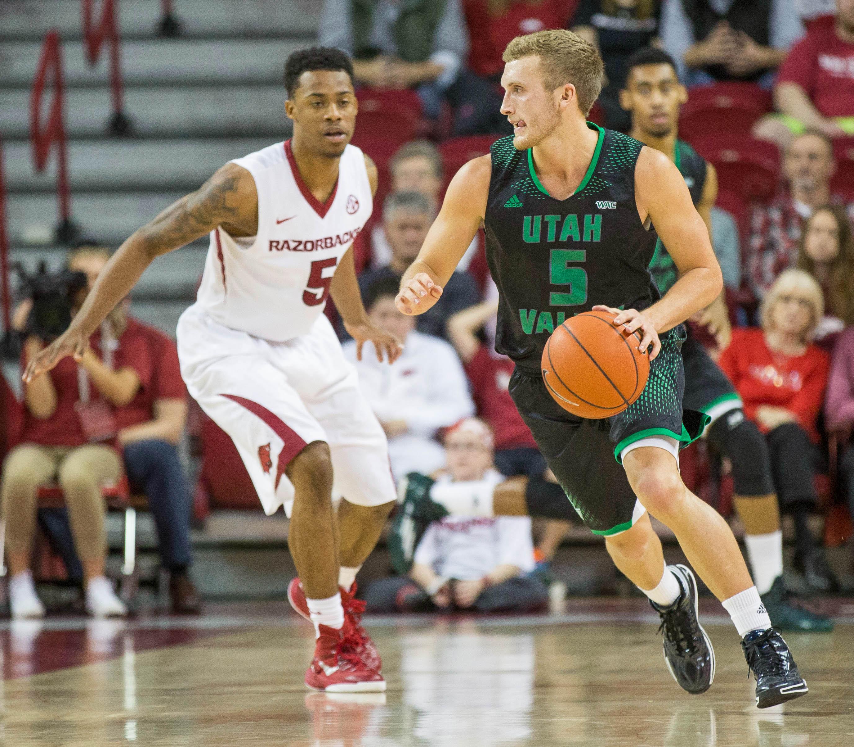 NCAA Basketball: Utah Valley at Arkansas