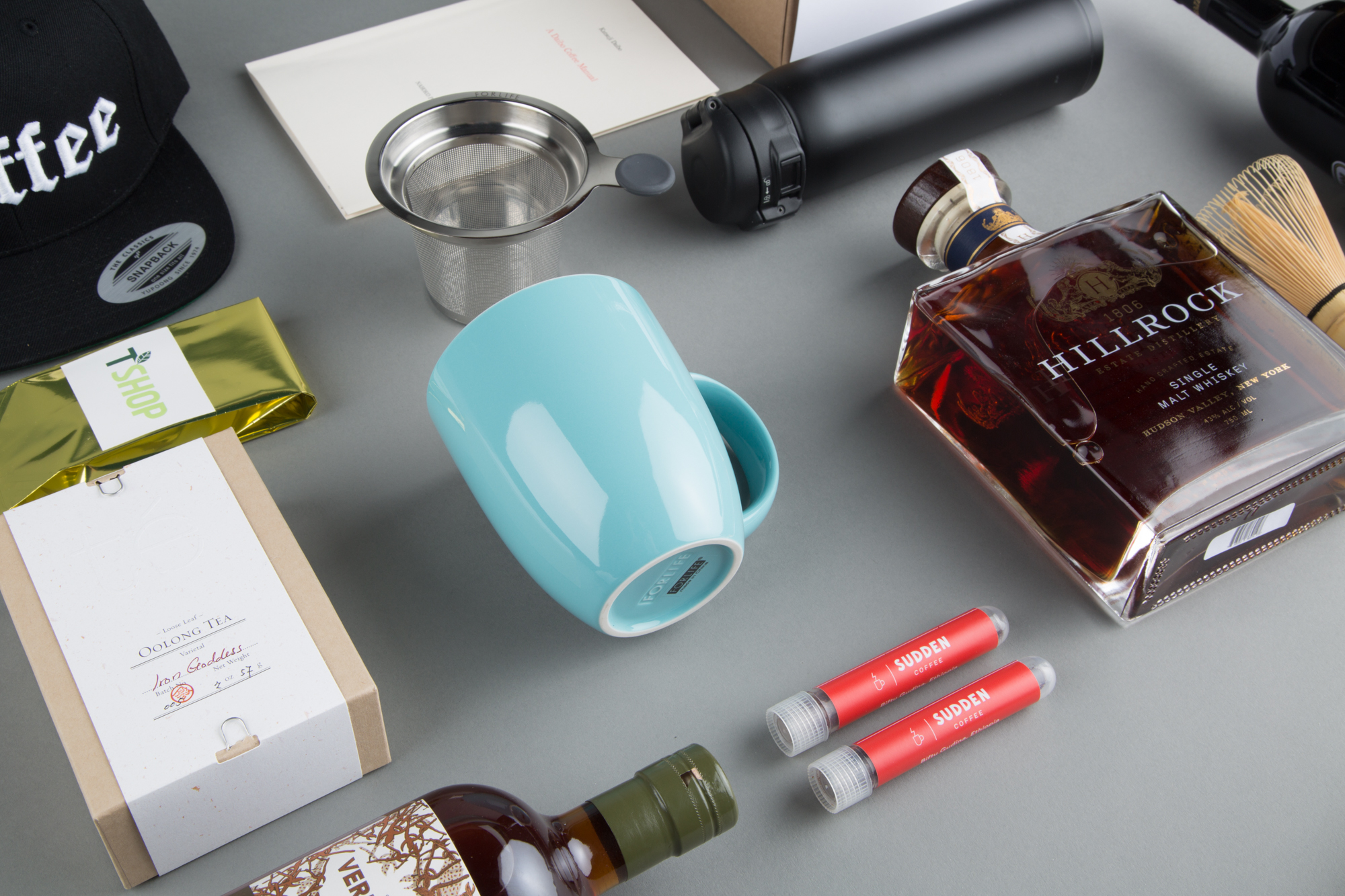 Selection of drinks products for the gift guide