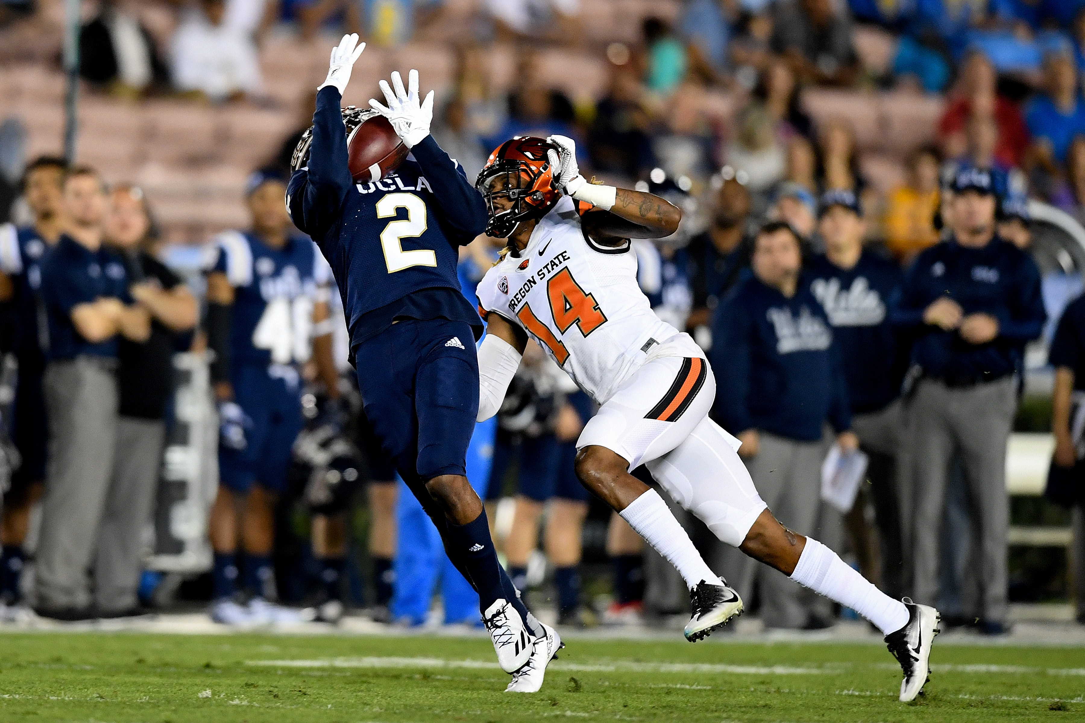This big play by Jordan Lasley led to UCLA's first touchdown of the night.