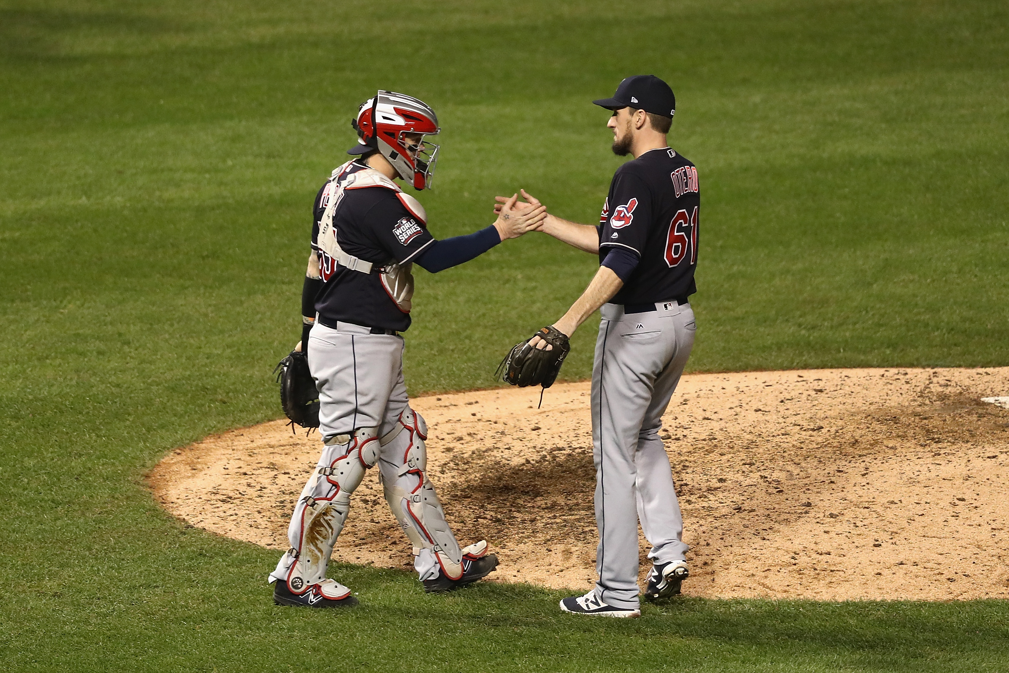 Dan Otero finishes off a World Series victory