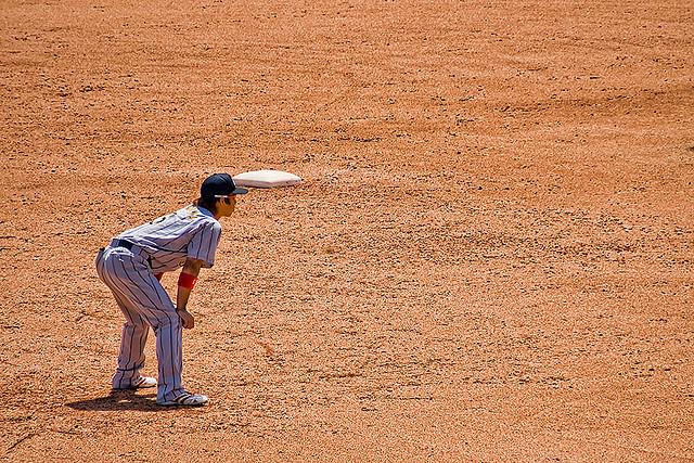 Hiroyuki Nakajima on the basepaths.