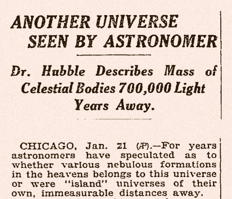 How Edwin Hubble discovered galaxies outside our own
