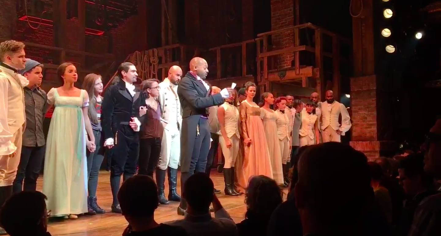 Mike Pence went to see Hamilton. The audience booed — but the cast delivered a personal plea.