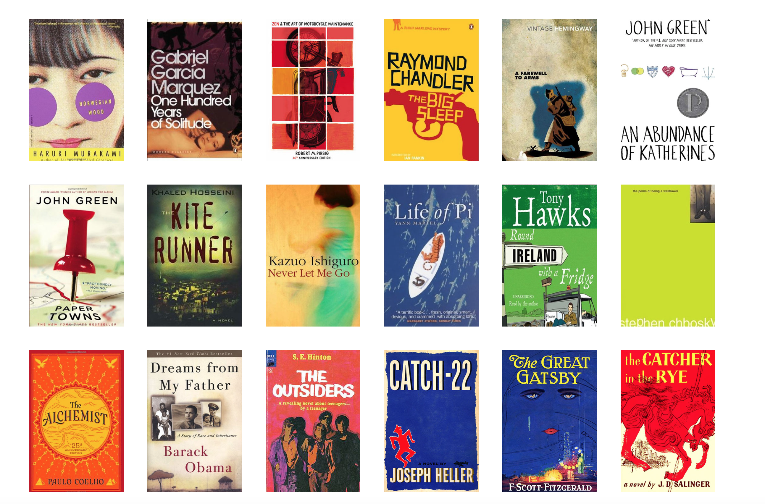 This website recommends novels by making sure you can't judge a book by its cover