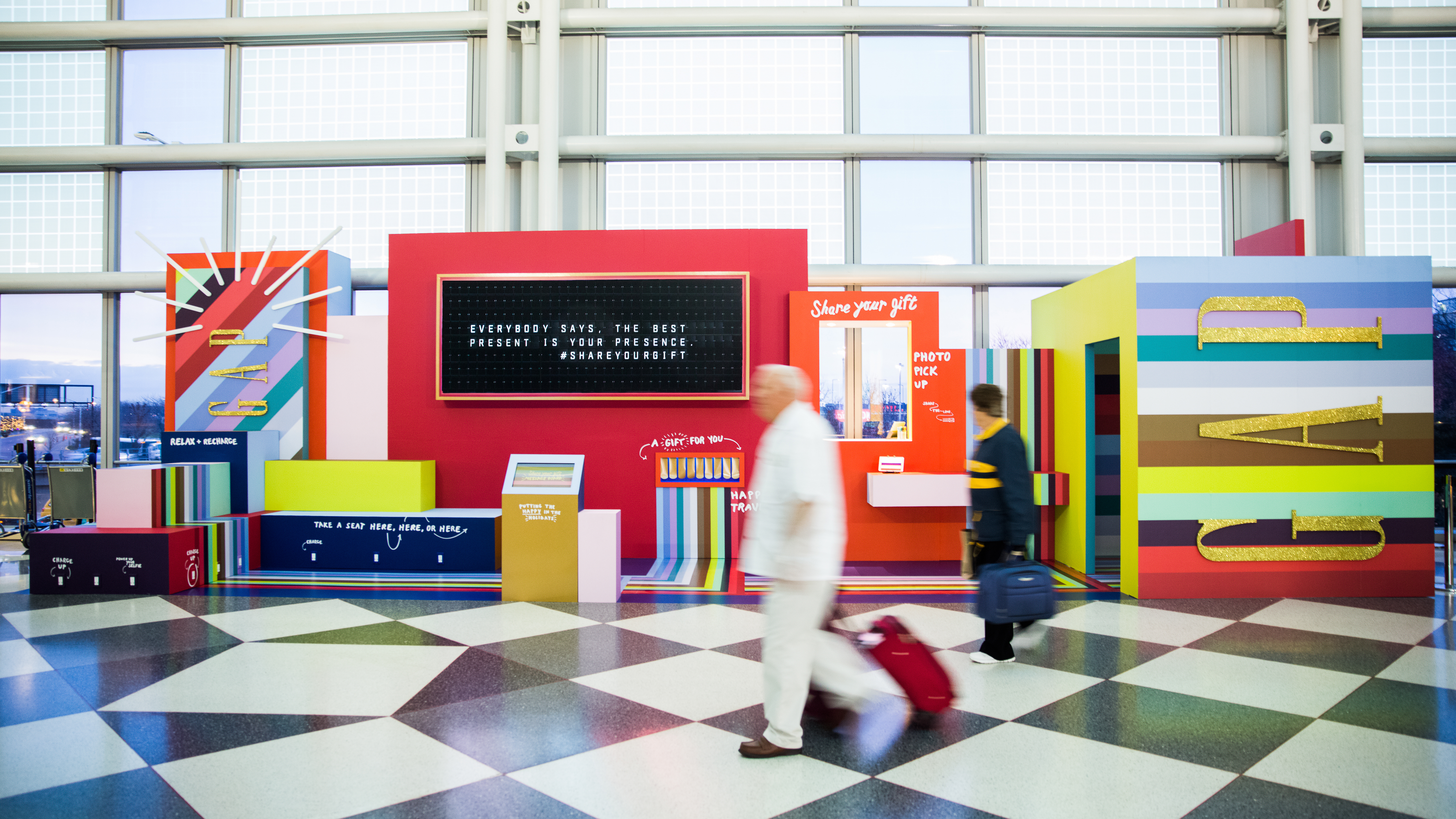A Gap pop-up event at Chicago O'Hare
