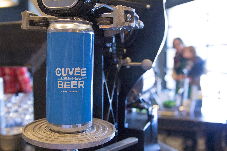 Cuvee Coffee's crowler machine