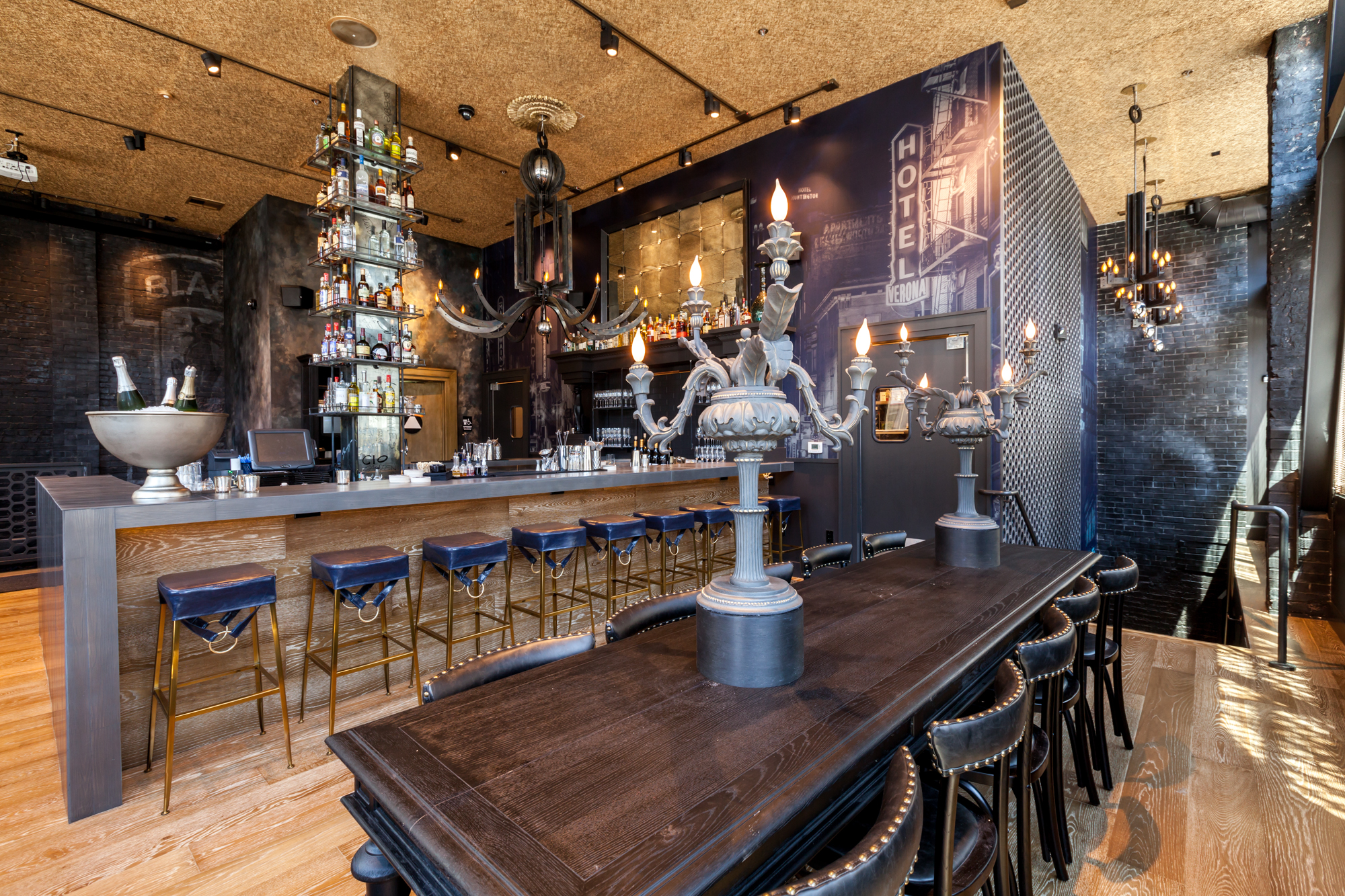 Black Cat's upstairs bar.