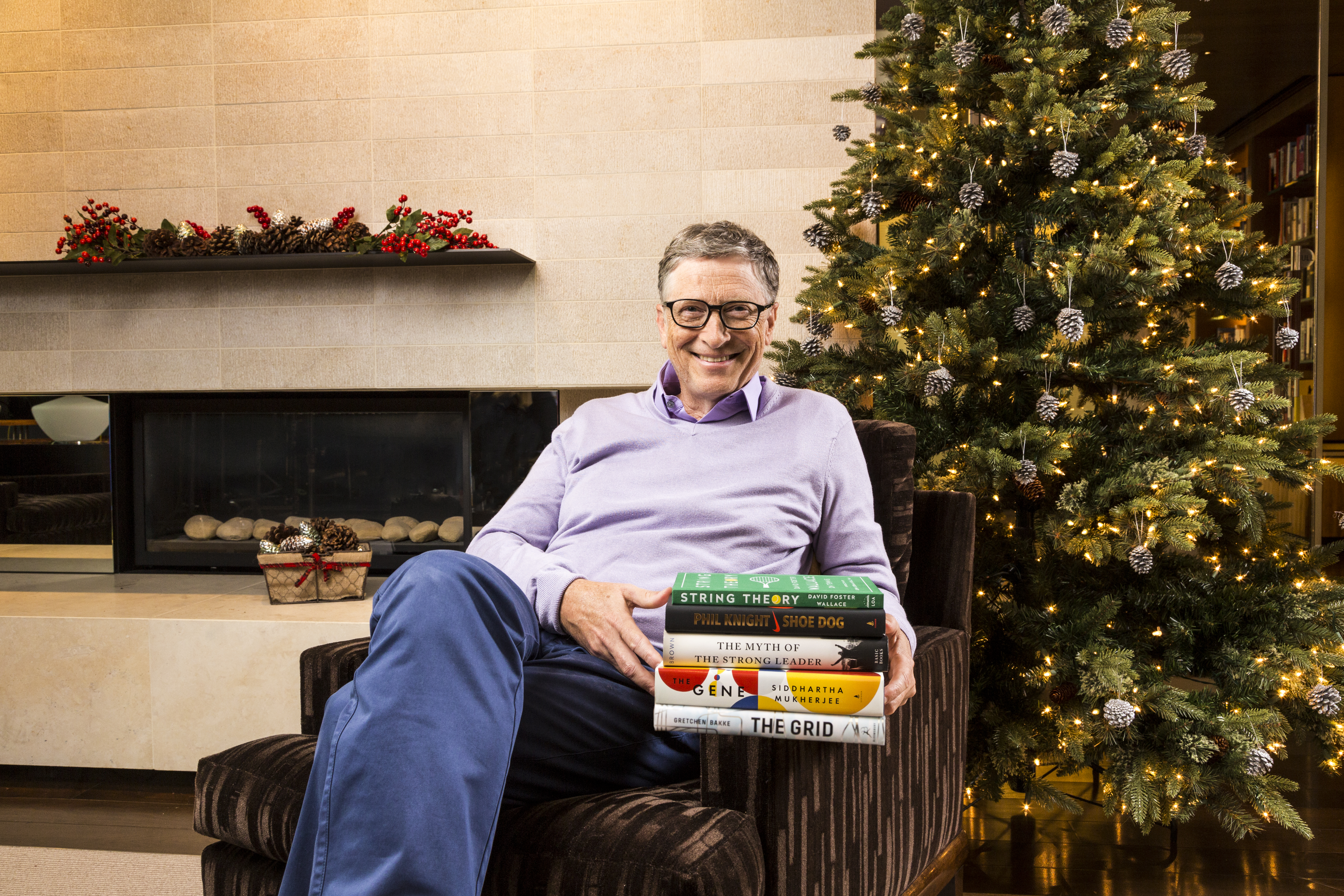 Bill Gates, with his five favorite books of 2016