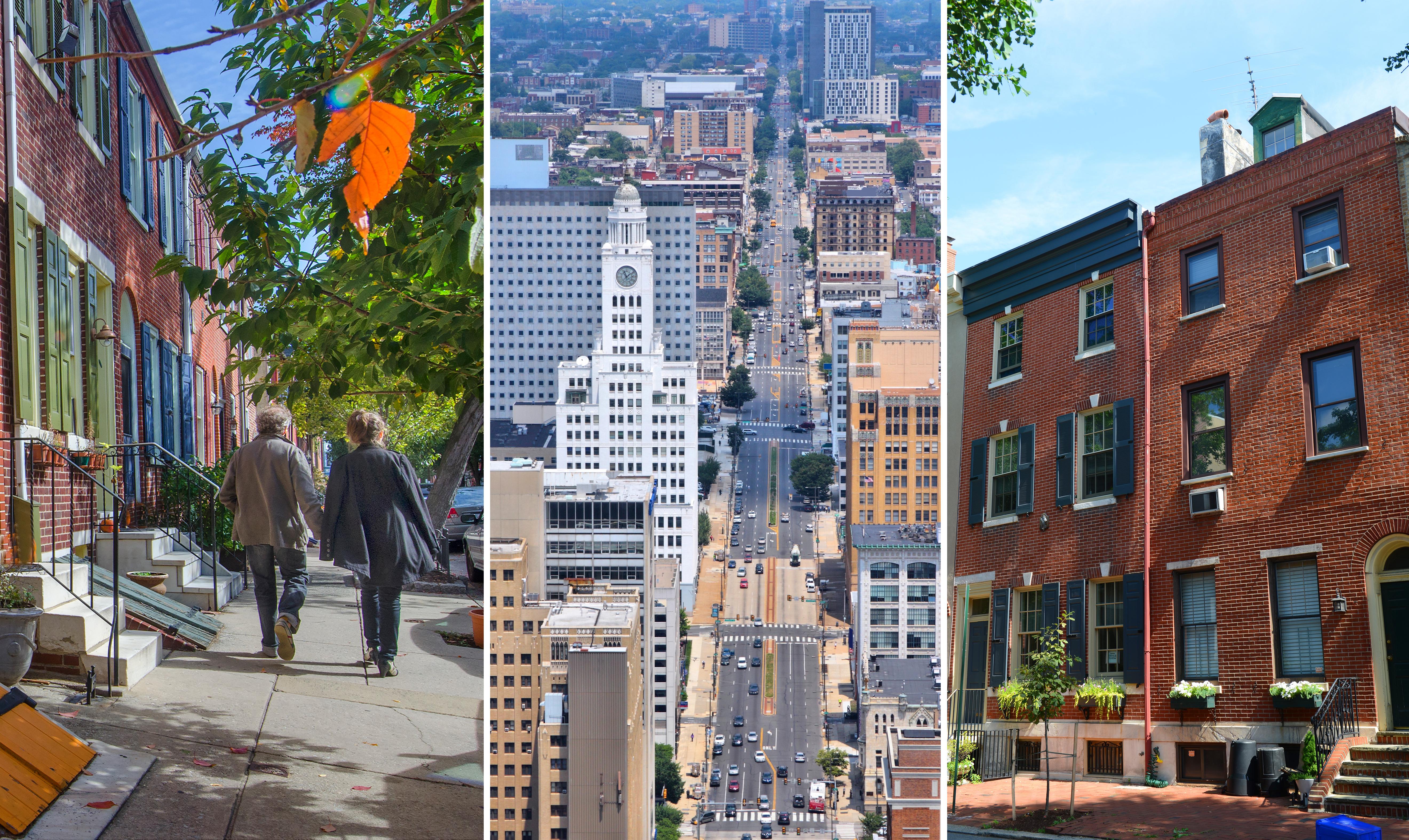 Three images of Philly neighborhoods