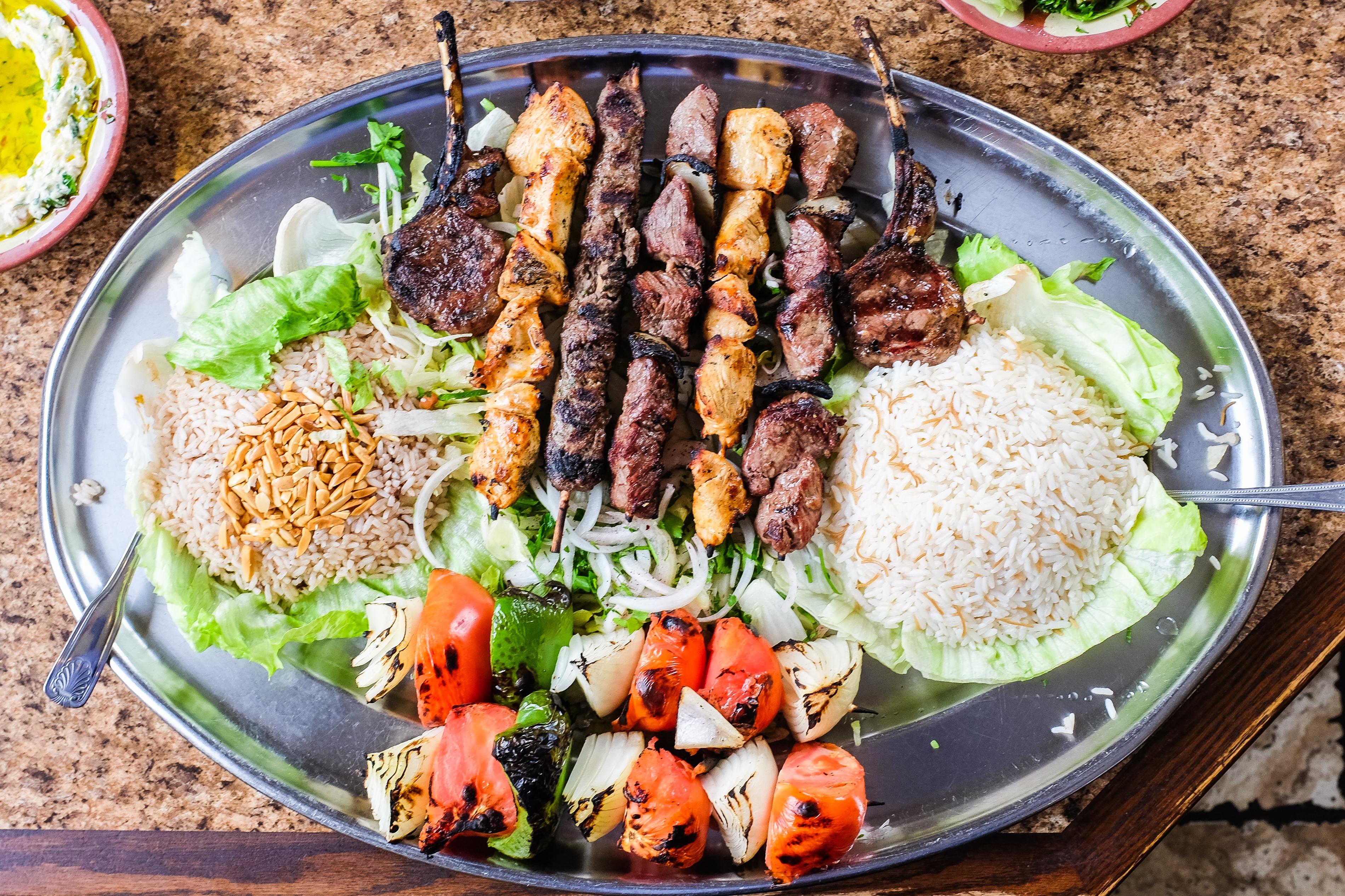 Kebabs at Al Ameer in Dearborn, MI
